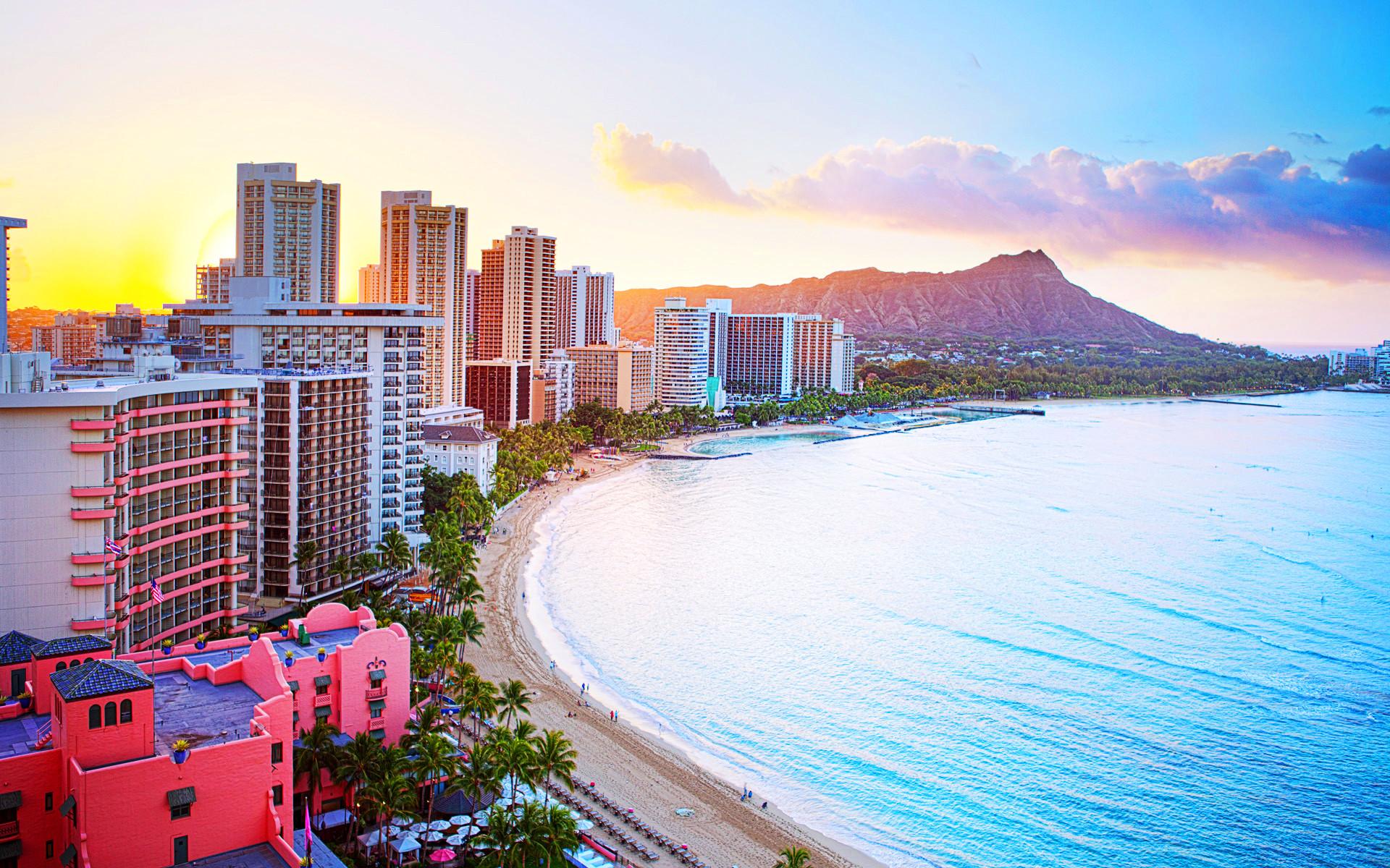Free wallpaper waikiki beach hawaii.