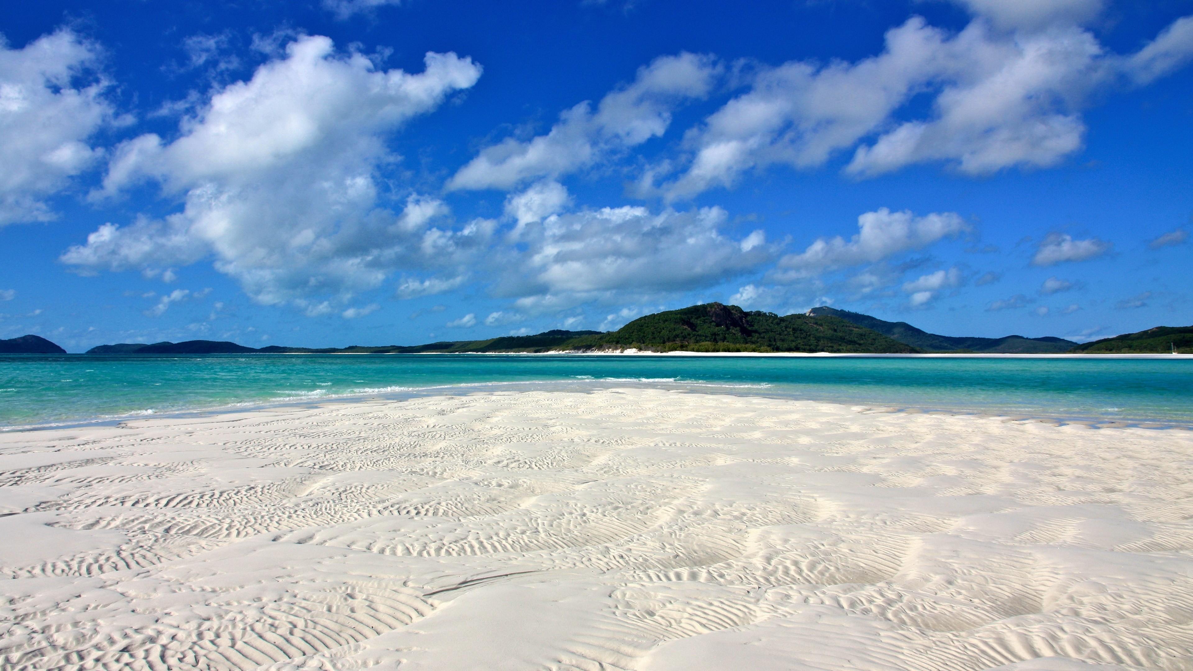 Beach Tropical Island 4K Desktop Wallpaper Uploaded by DesktopWalls .