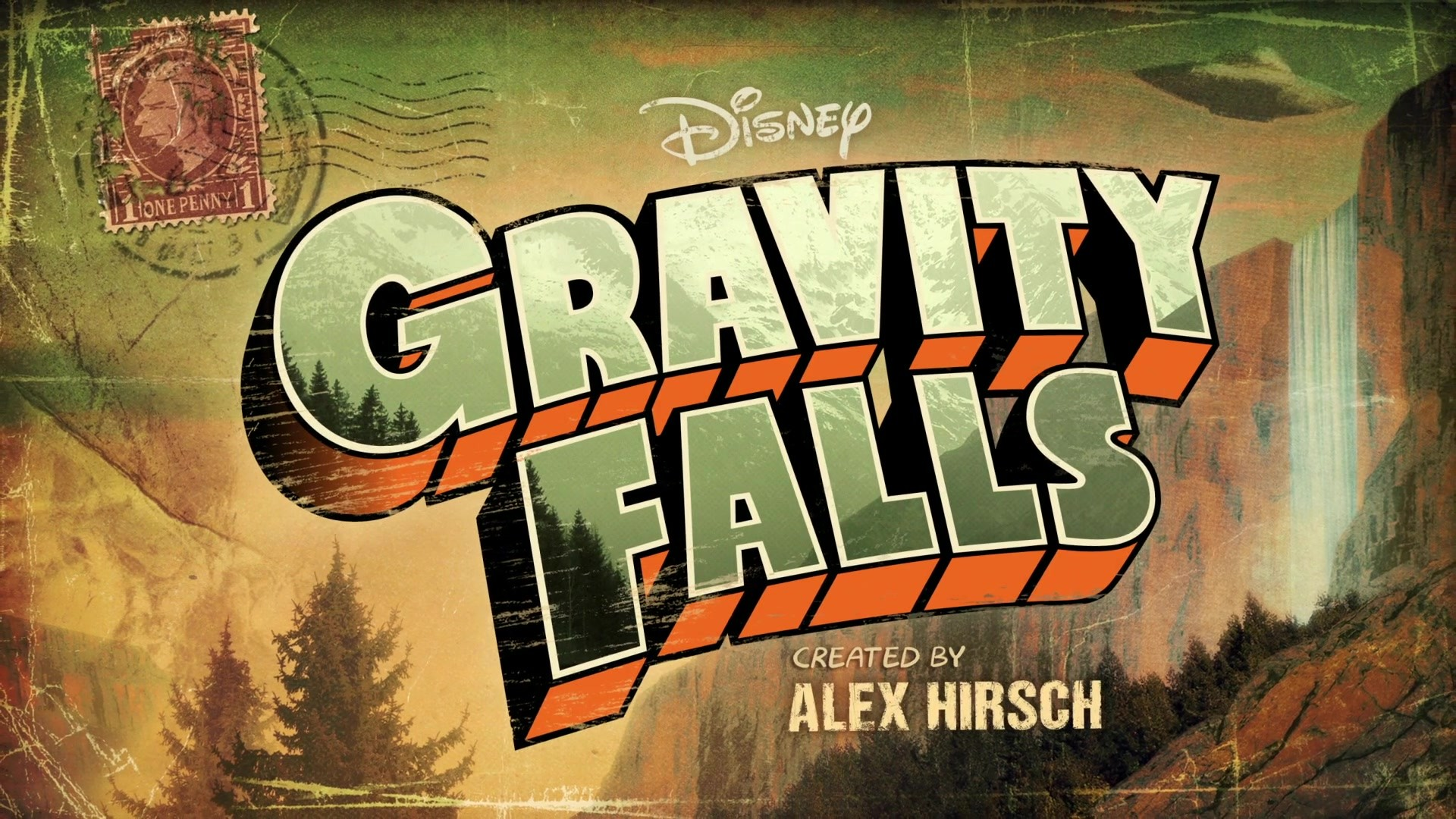 <b>Gravity Falls</b> Title Background by arberlezi on DeviantArt