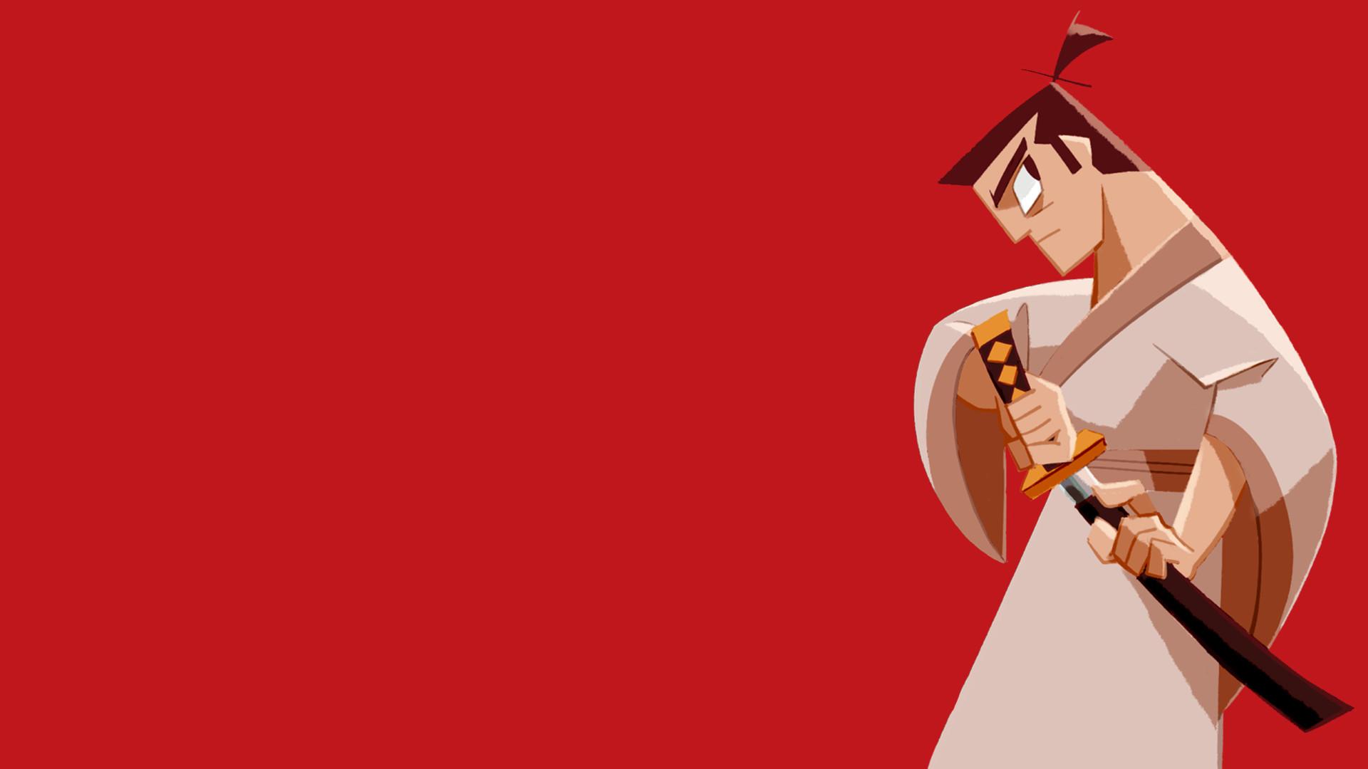 General Samurai Jack simple background samurai katana