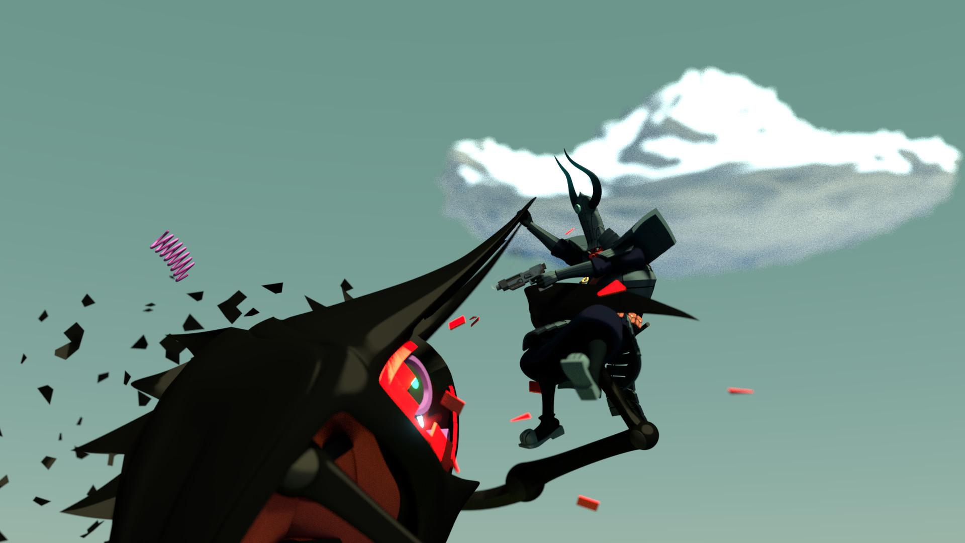 Samurai Jack One vs Many 3D Recreation