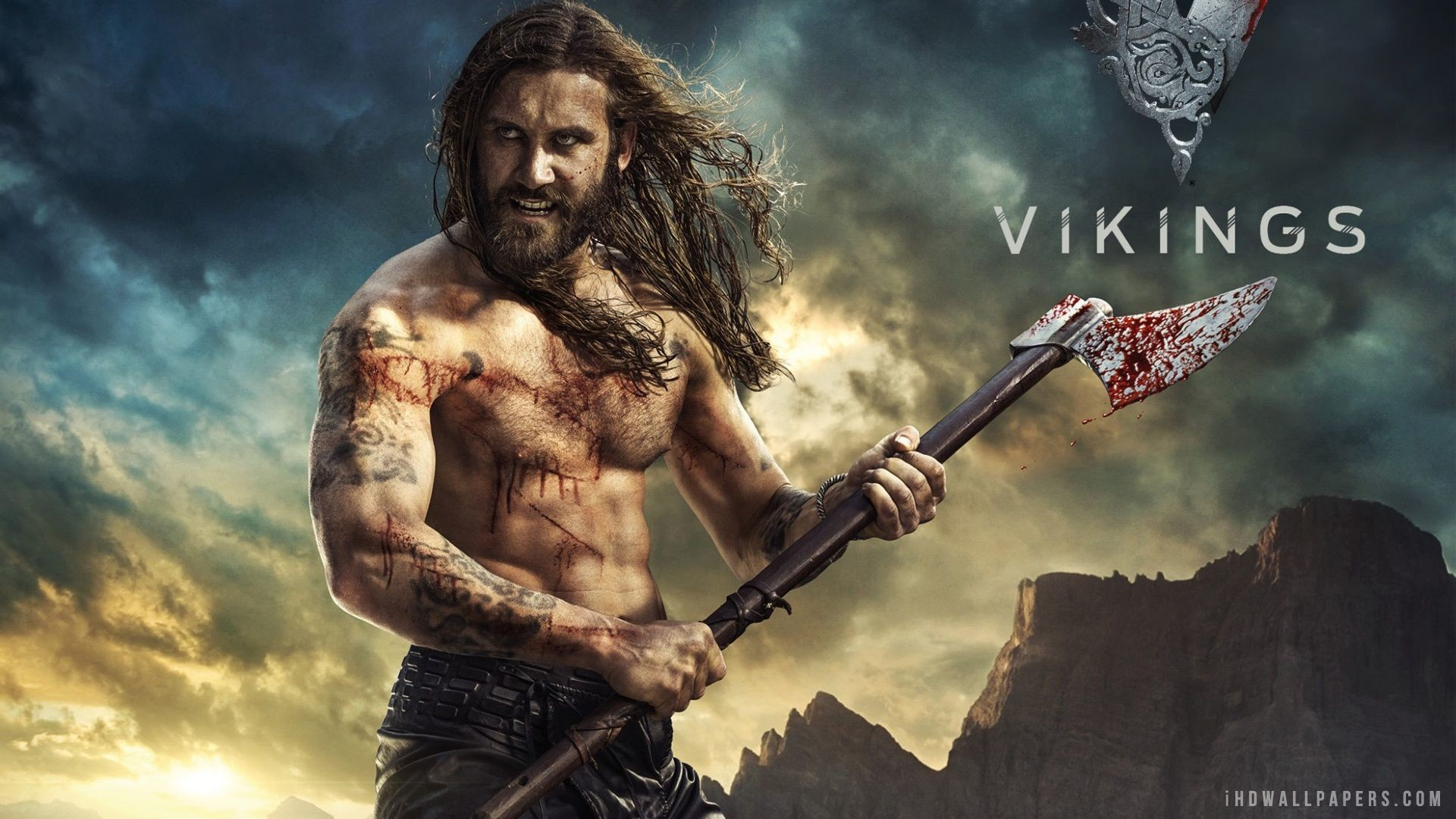 Rollo Vikings Season 2 TV Series 2014 HD Wallpaper – iHD Wallpapers