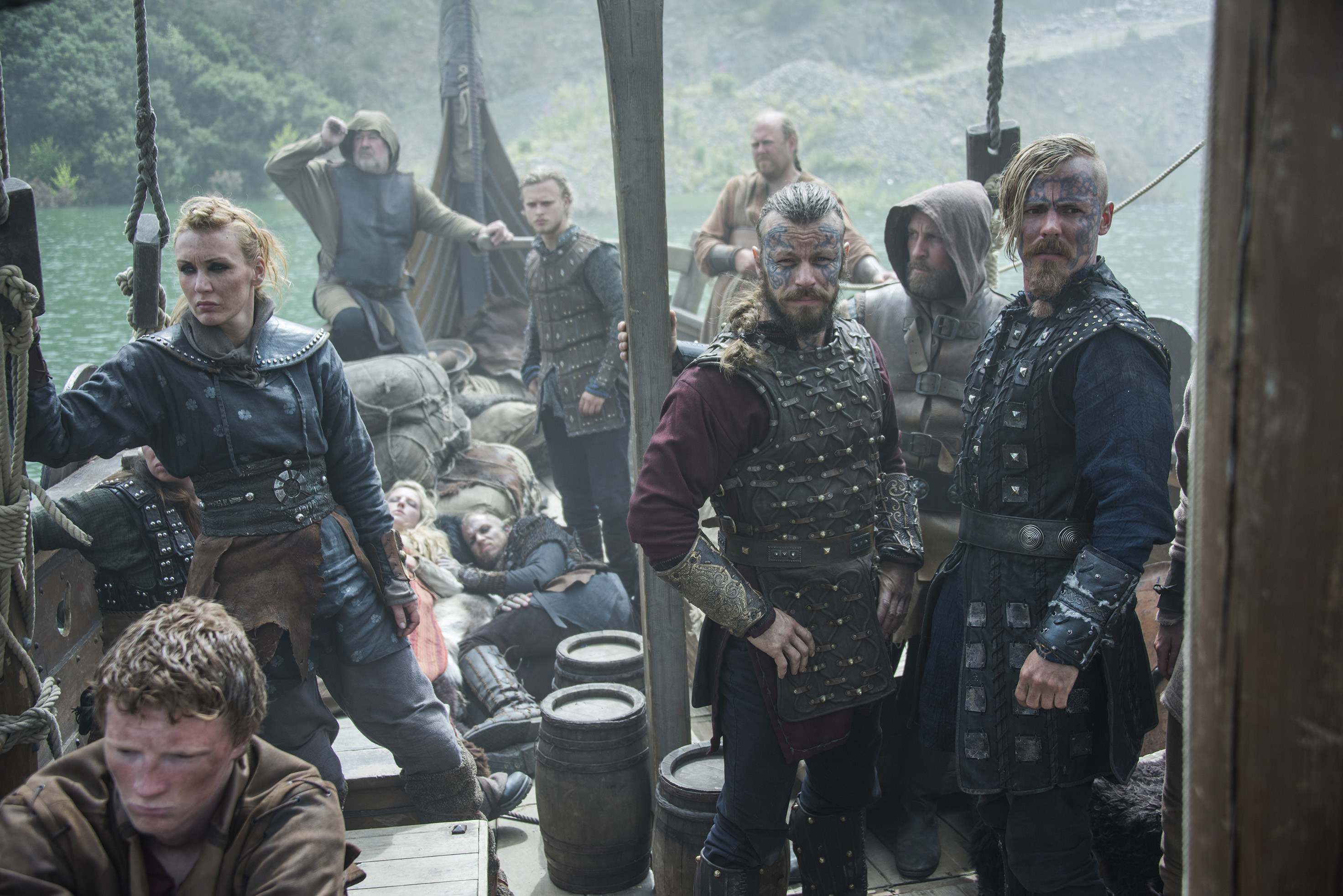 vikings – harald finehair and halfdan the black with erlendur   Vikings    Pinterest   Vikings, Viking series and Vikings tv