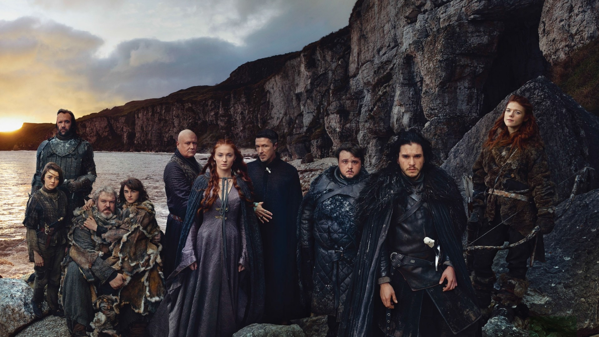 Preview wallpaper game of thrones, kit harington, sophie turner, maisie  williams, rory