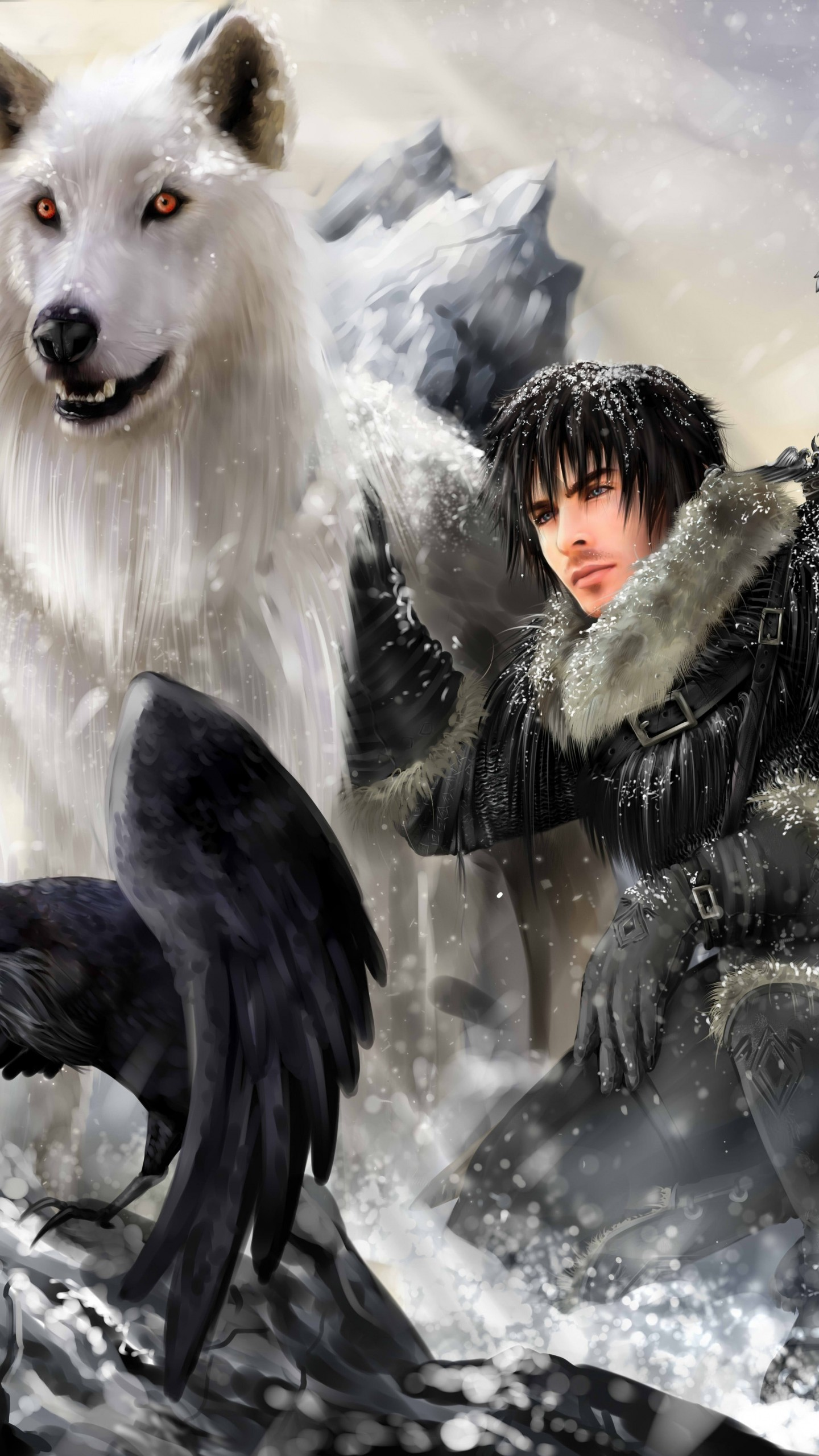 Preview wallpaper the song of ice and fire, game of thrones, jon snow,