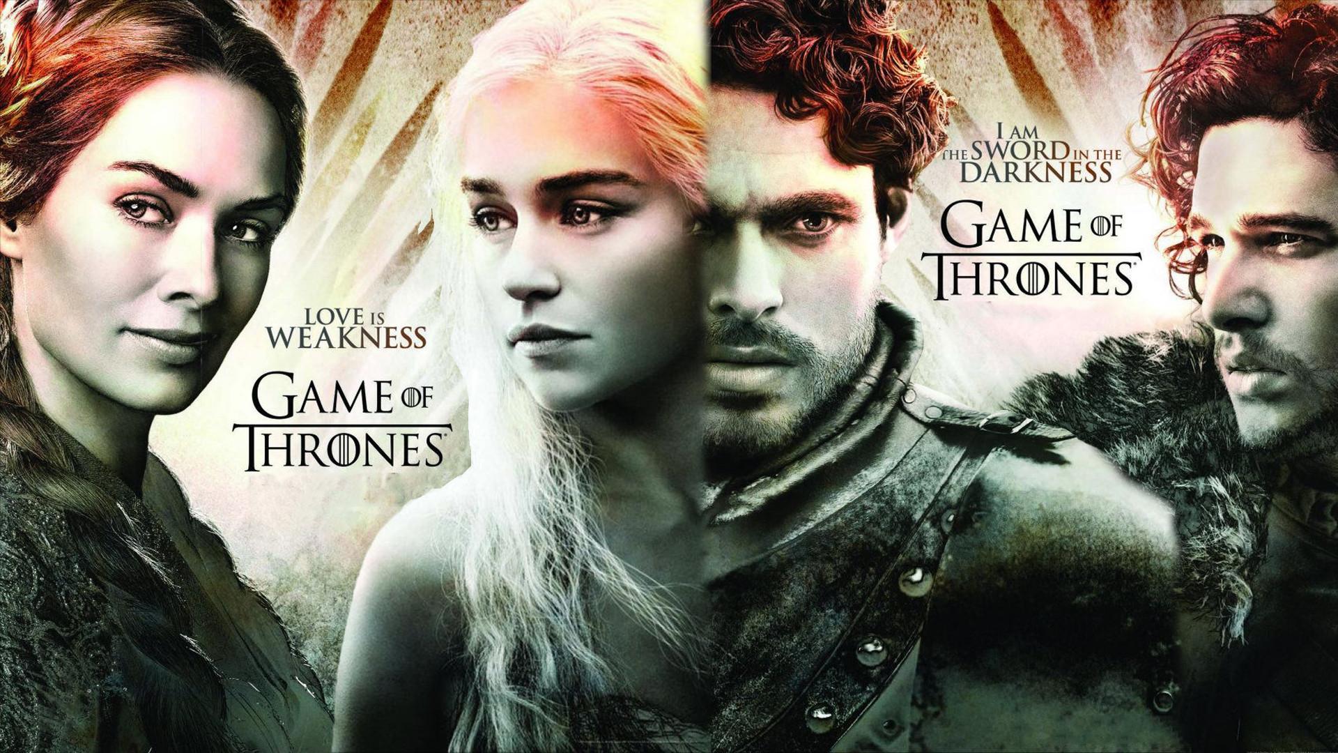 TV Show – Game Of Thrones Jon Snow Richard Madden Robb Stark Kit Harington  Emilia Clarke