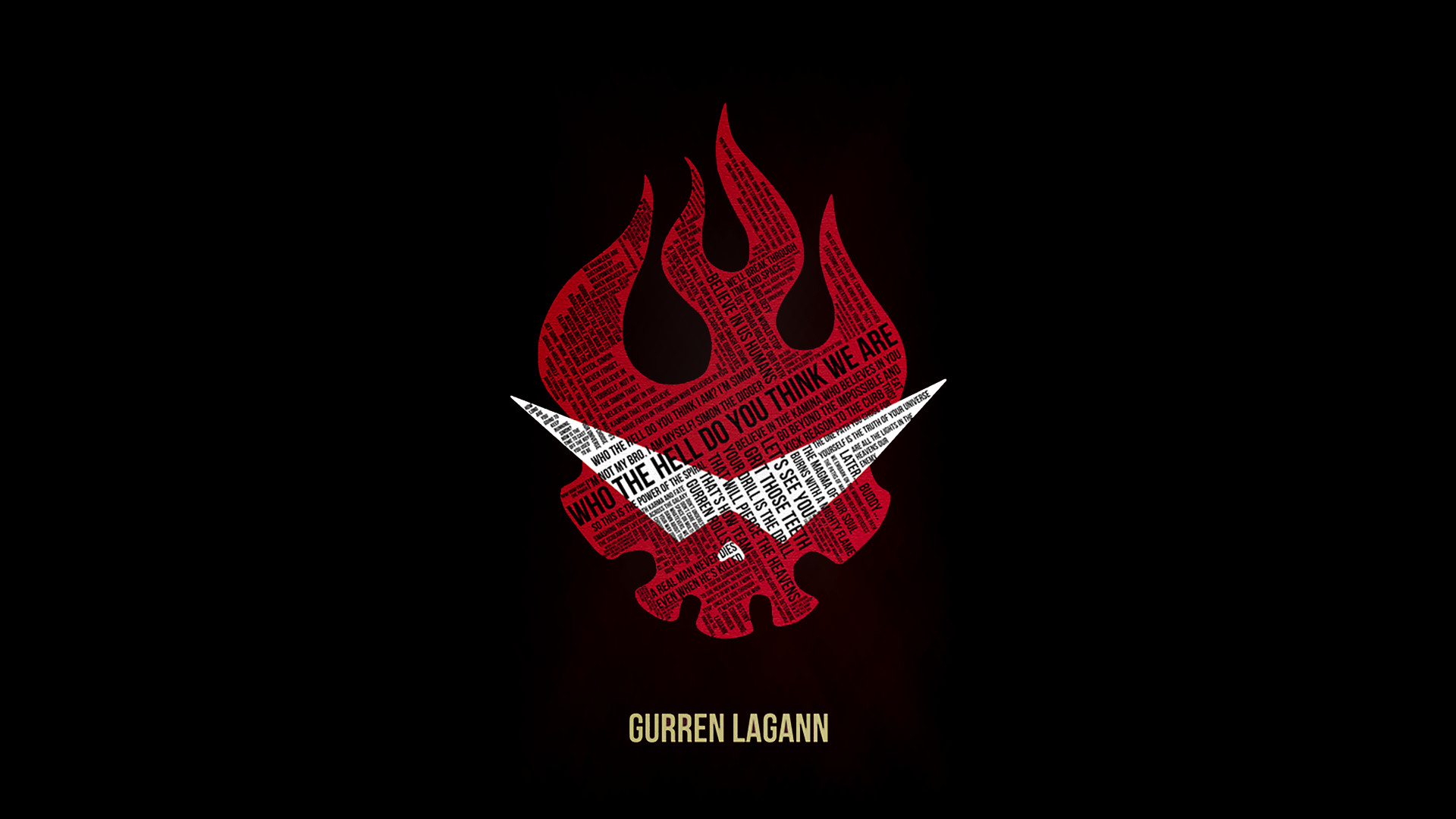 Gurren Lagann logo. Resize of something i found …