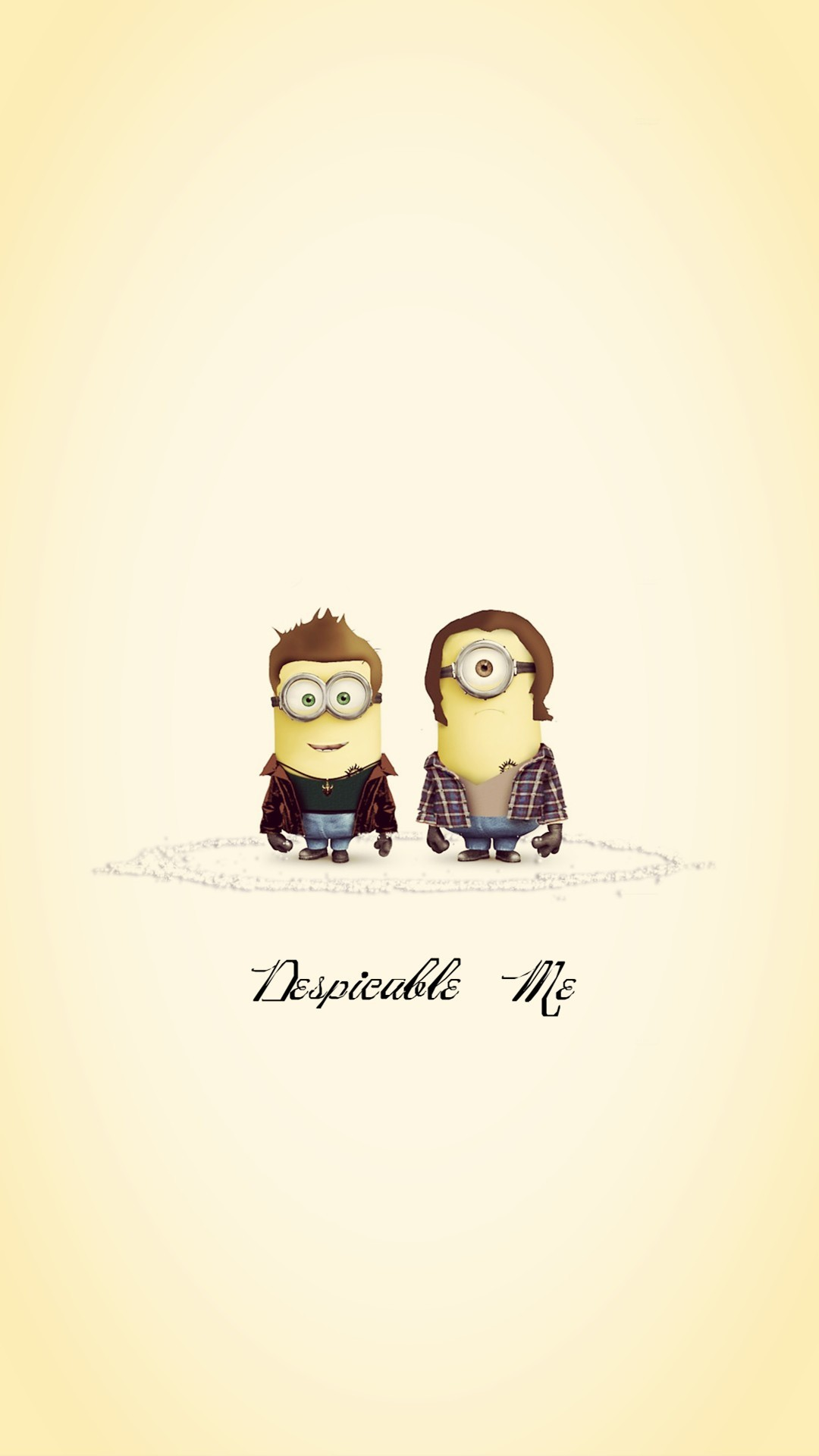 Funny Supernatural Minions Sam and Dean iphone 6 plus wallpaper HD for .