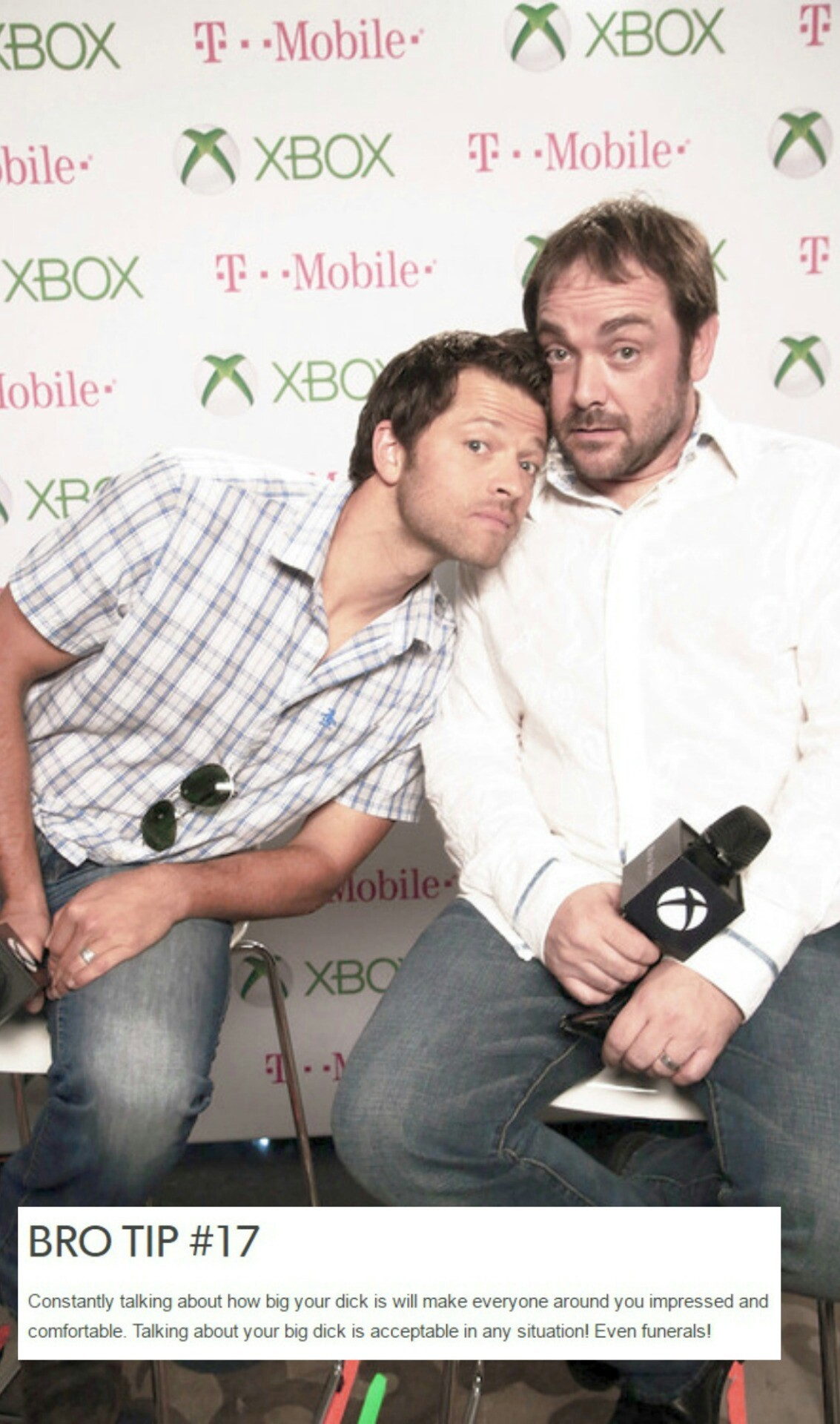 Wallpaper Lockscreen Mark & Misha (Supernatural)