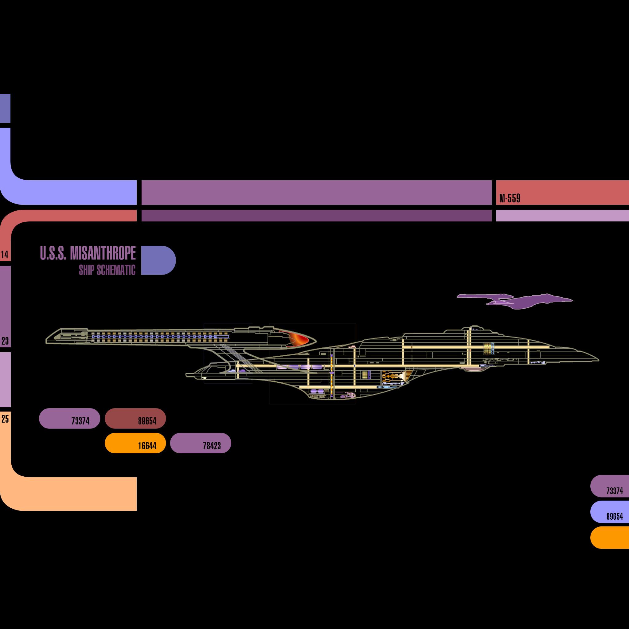 Star Trek: TNG LCARS iPad Wallpapers