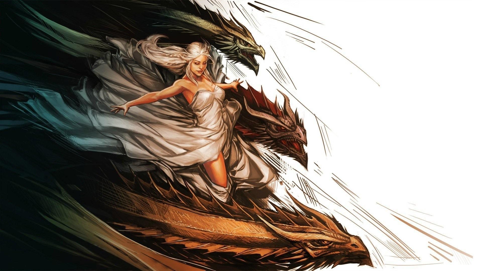 Daenerys Targaryen And Her Dragons