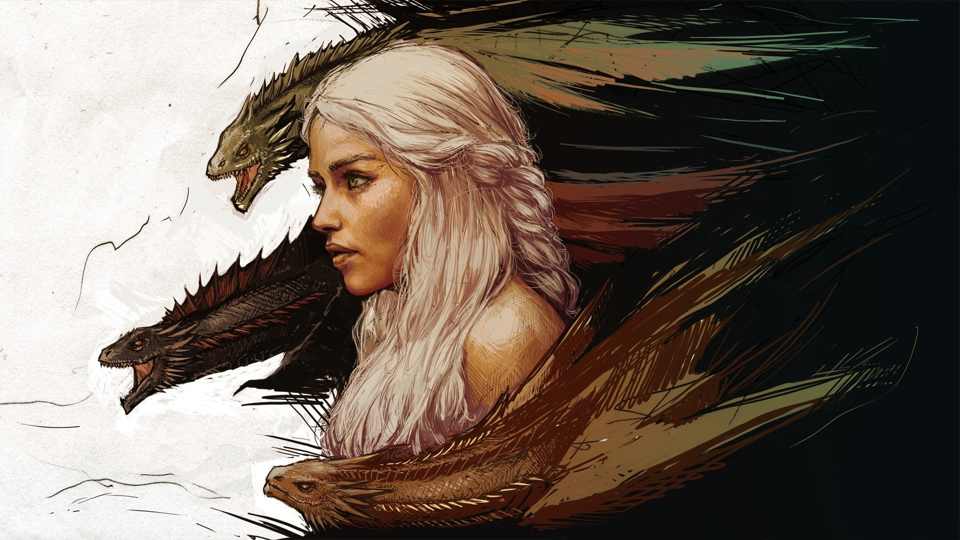 A Song Of Ice And Fire, Anime, White Hair, Daenerys Targaryen, Women,  Dragon, Game Of Thrones Wallpapers HD / Desktop and Mobile Backgrounds