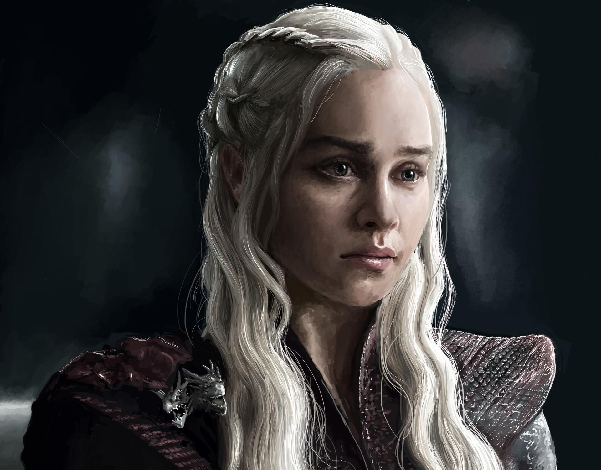 TV Show – Game Of Thrones White Hair Face Daenerys Targaryen Emilia Clarke  Wallpaper