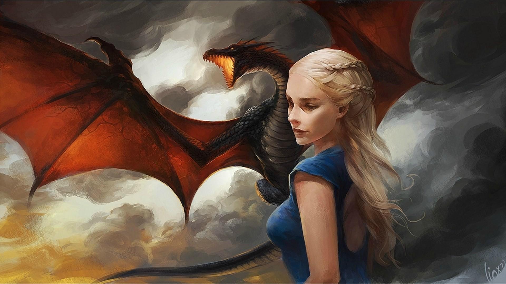 -Daenerys Targaryen Fan Art feature Artwork by