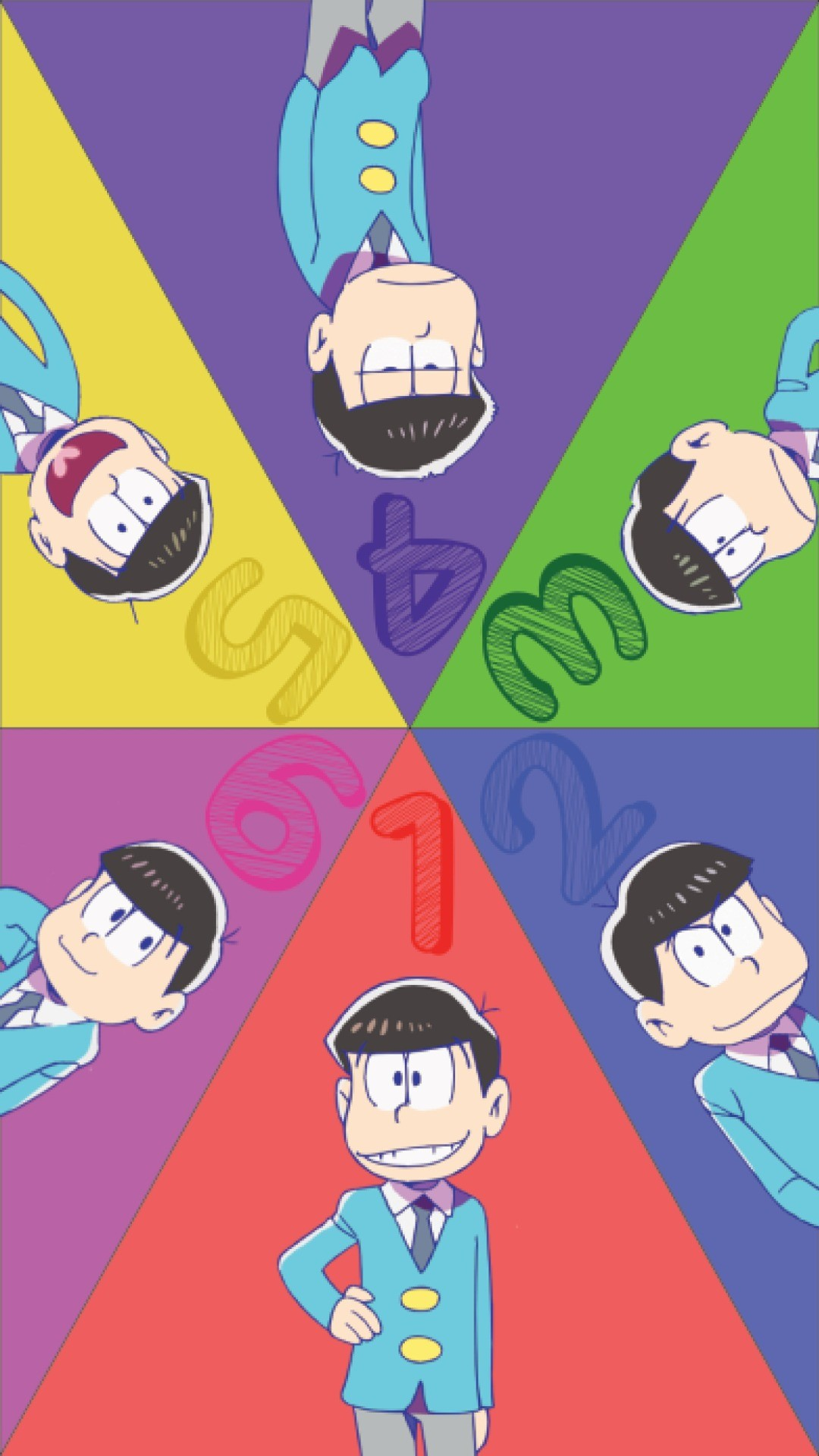 I made an Osomatsu-San wallpaper in shop. The dimensions are 1334 x 750