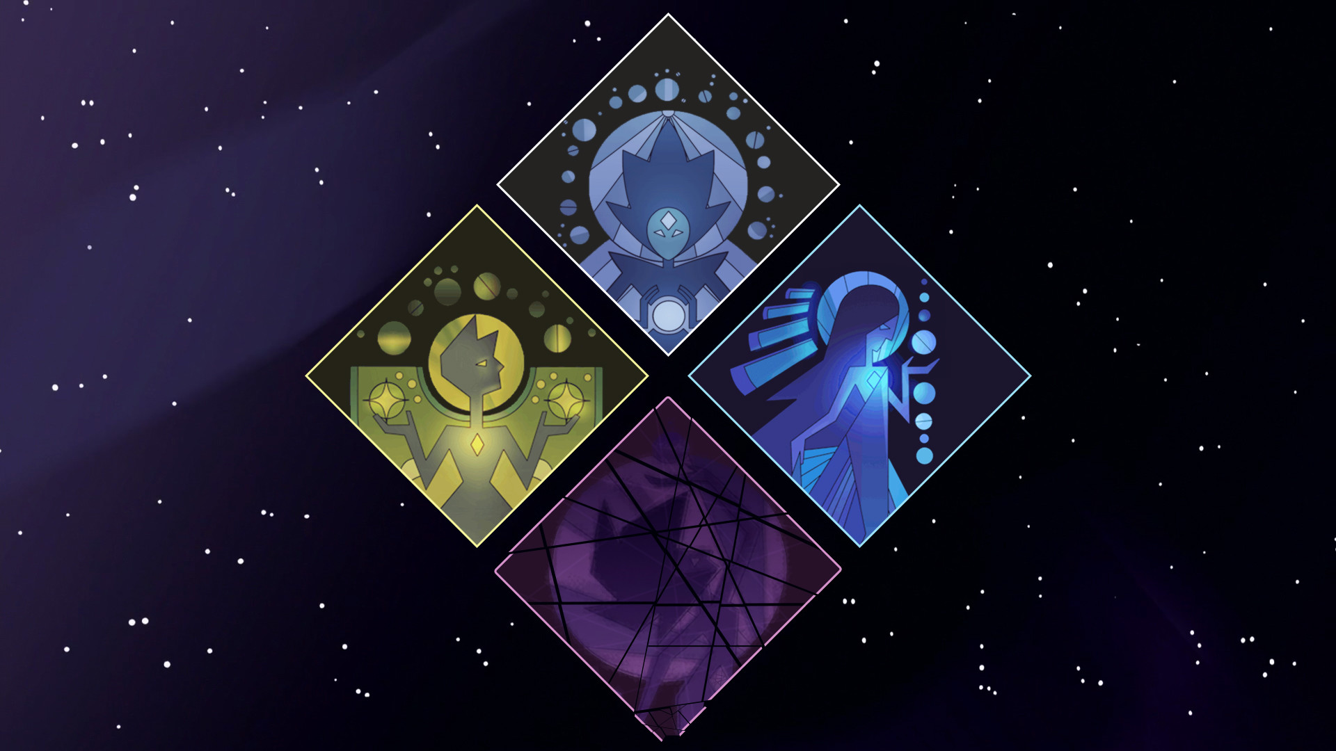 I made a background using The Diamond Authority's murals within their  symbol.