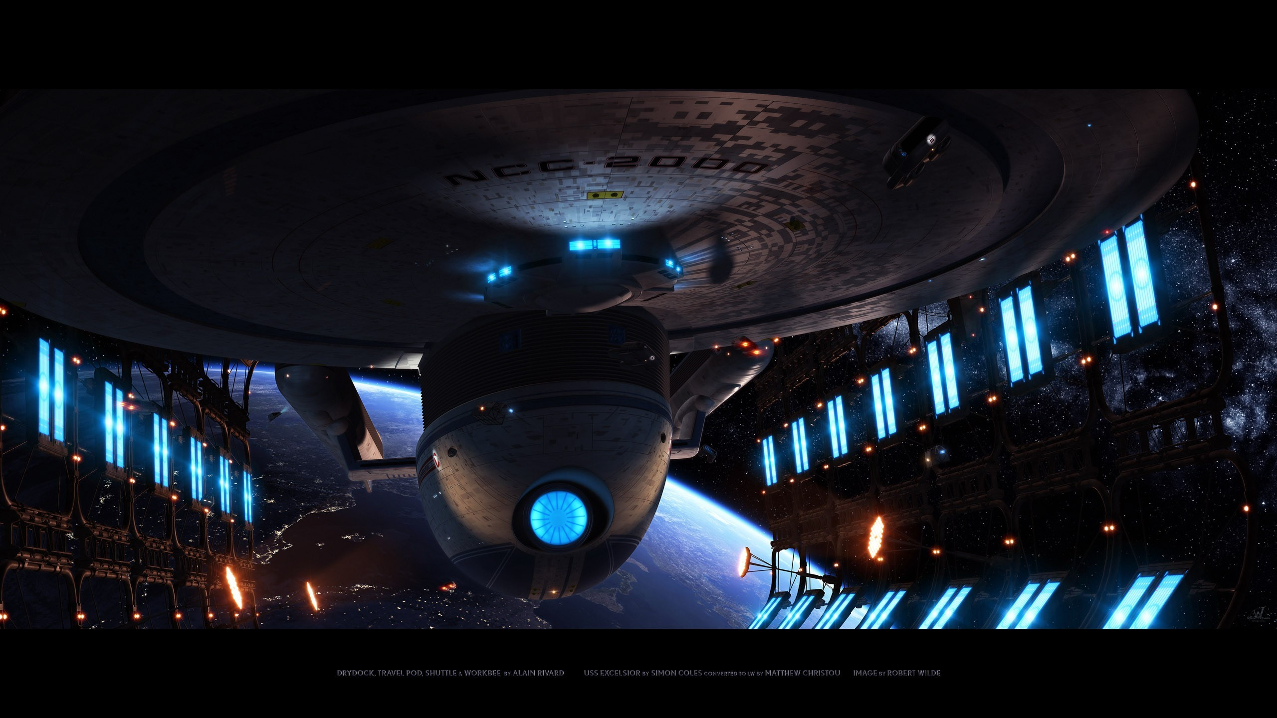 Star Trek Wallpaper Star, Trek, Enterprise, Uss, Excelsior
