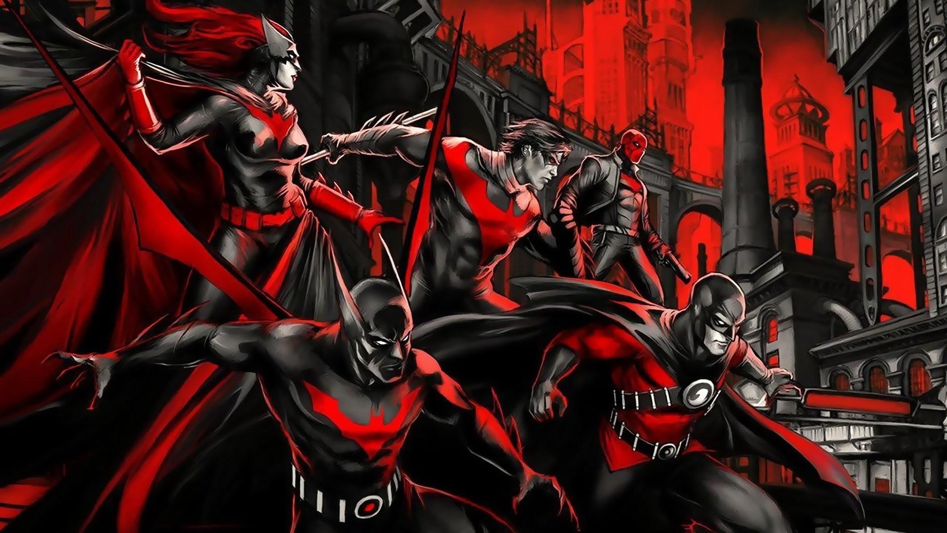 batman beyond batwoman red robin nightwing red hood gotham red dc comics batman  beyond betvumen red