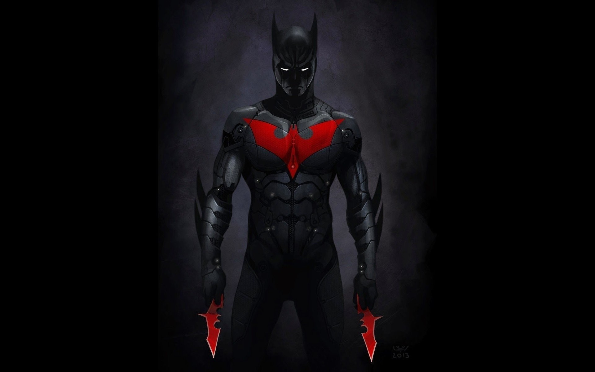 betarangi superhero dc comics black art batman beyond
