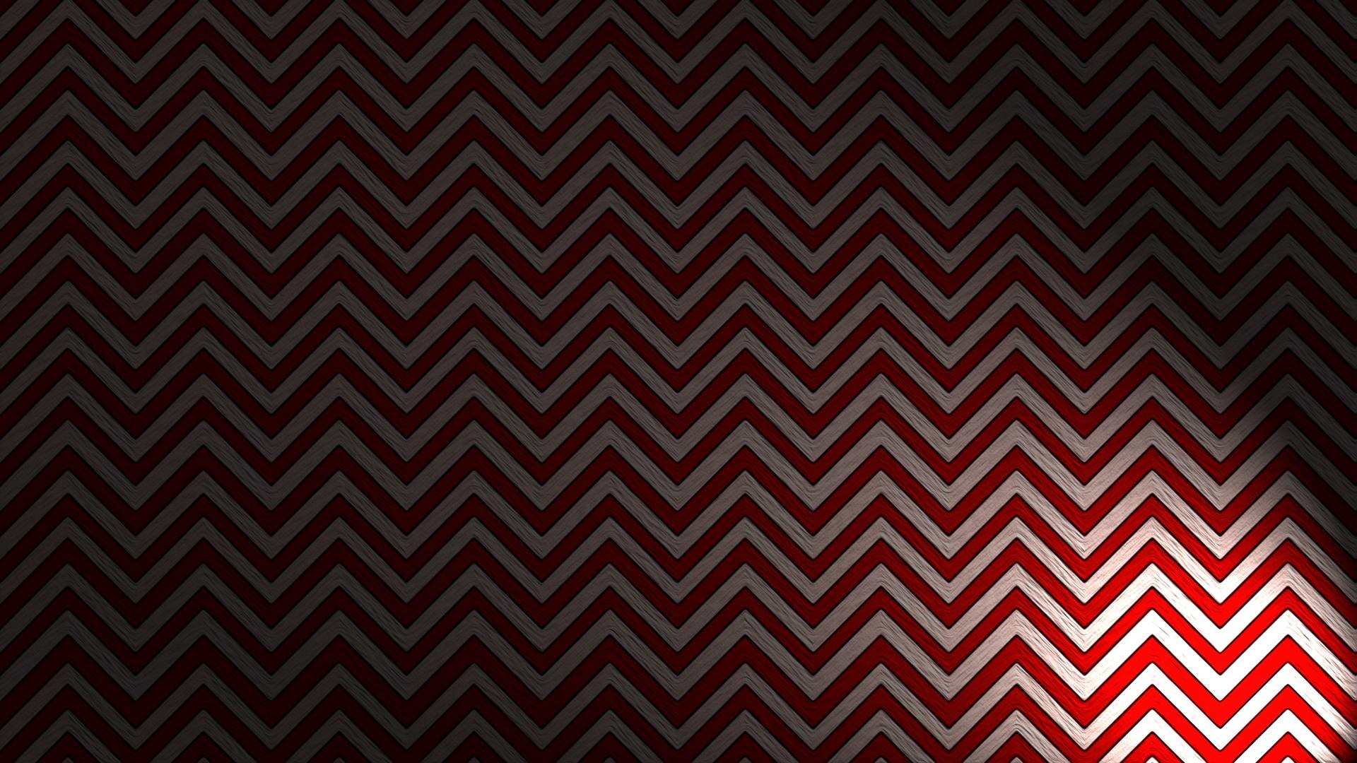 A Black Lodge-inspired wallpaper …