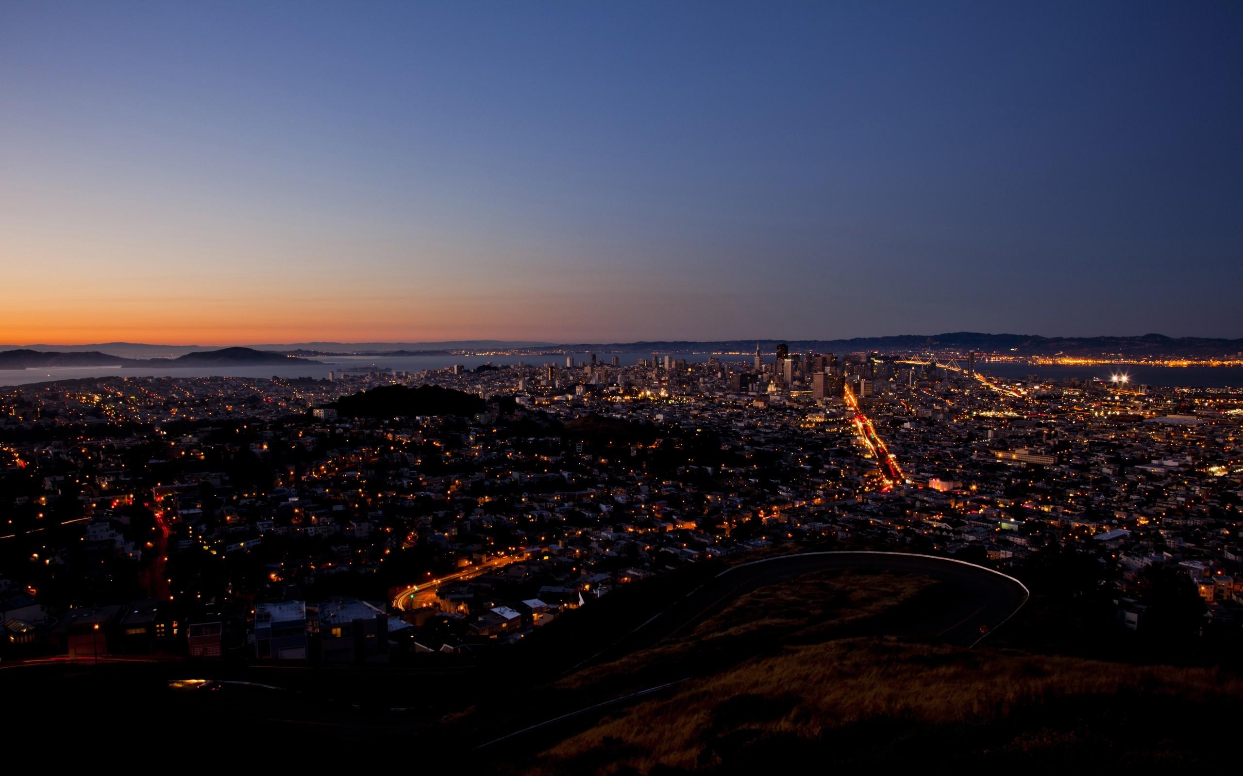 San Francisco view from Twin Peaks Desktop Wallpapers FREE .