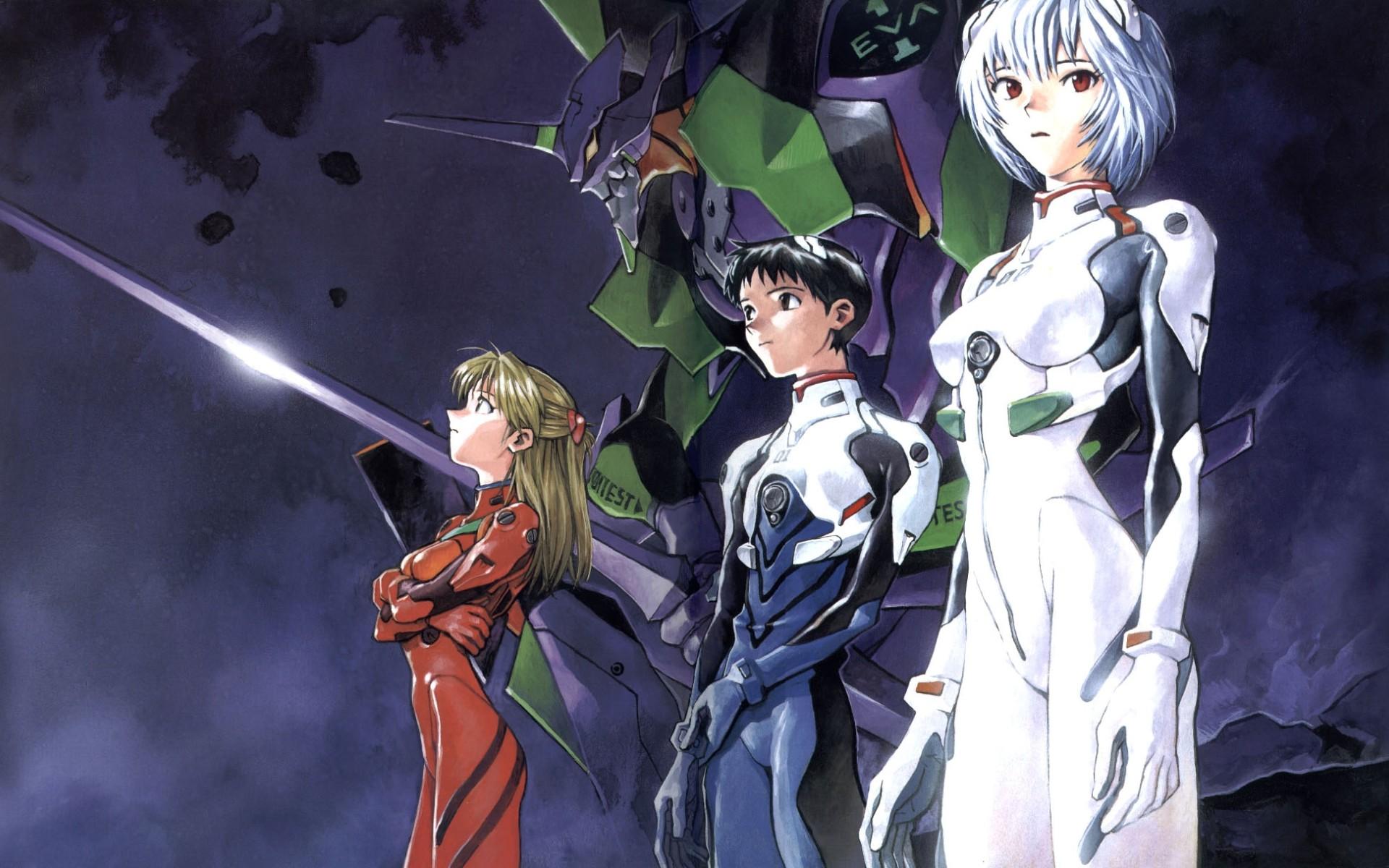 Anime – Neon Genesis Evangelion Asuka Langley Sohryu Shinji Ikari Rei  Ayanami Wallpaper