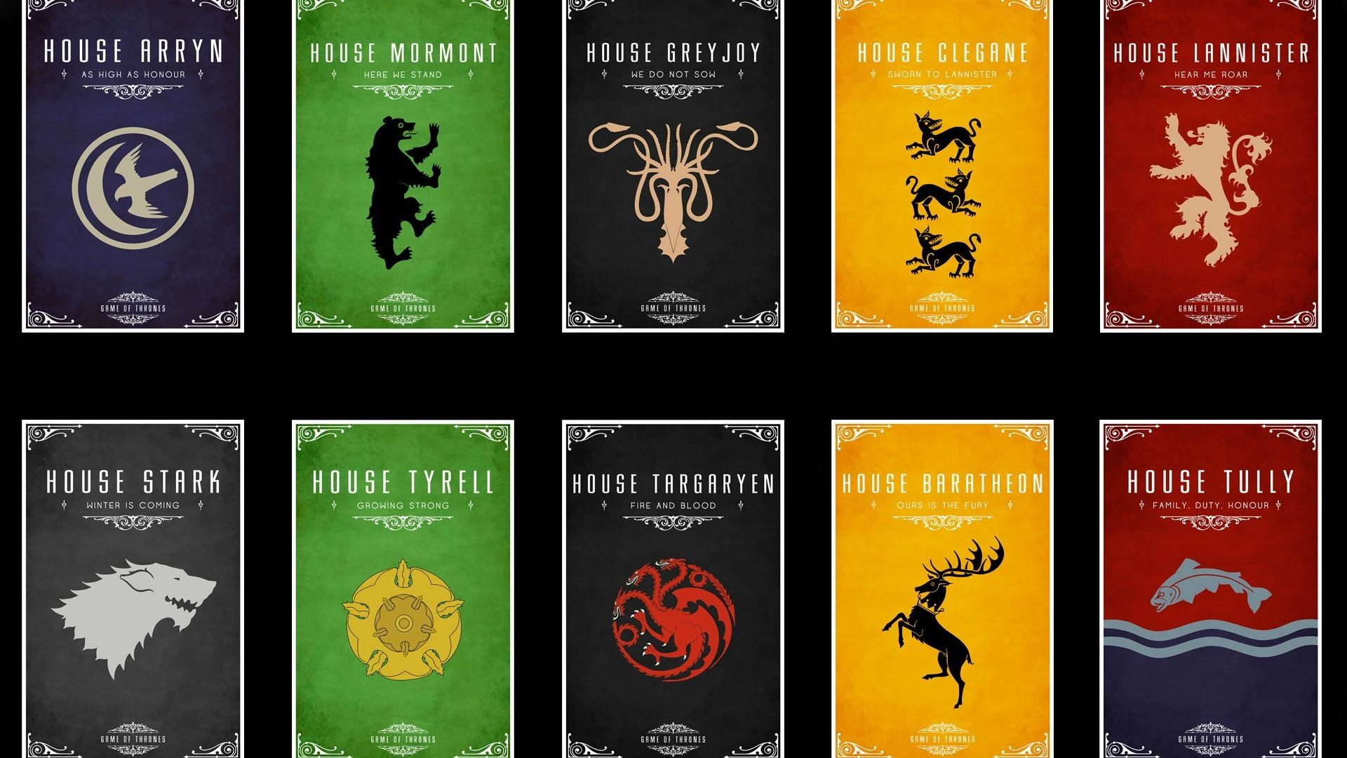 Game of Thrones houses HD Wallpaper Game …