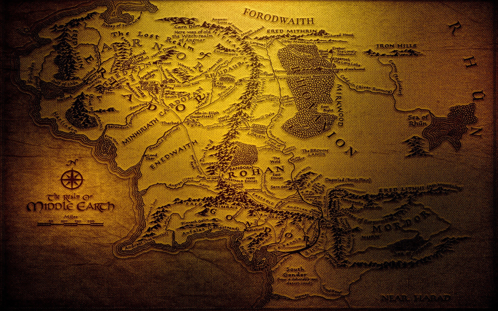 map, Middle earth, The Lord Of The Rings