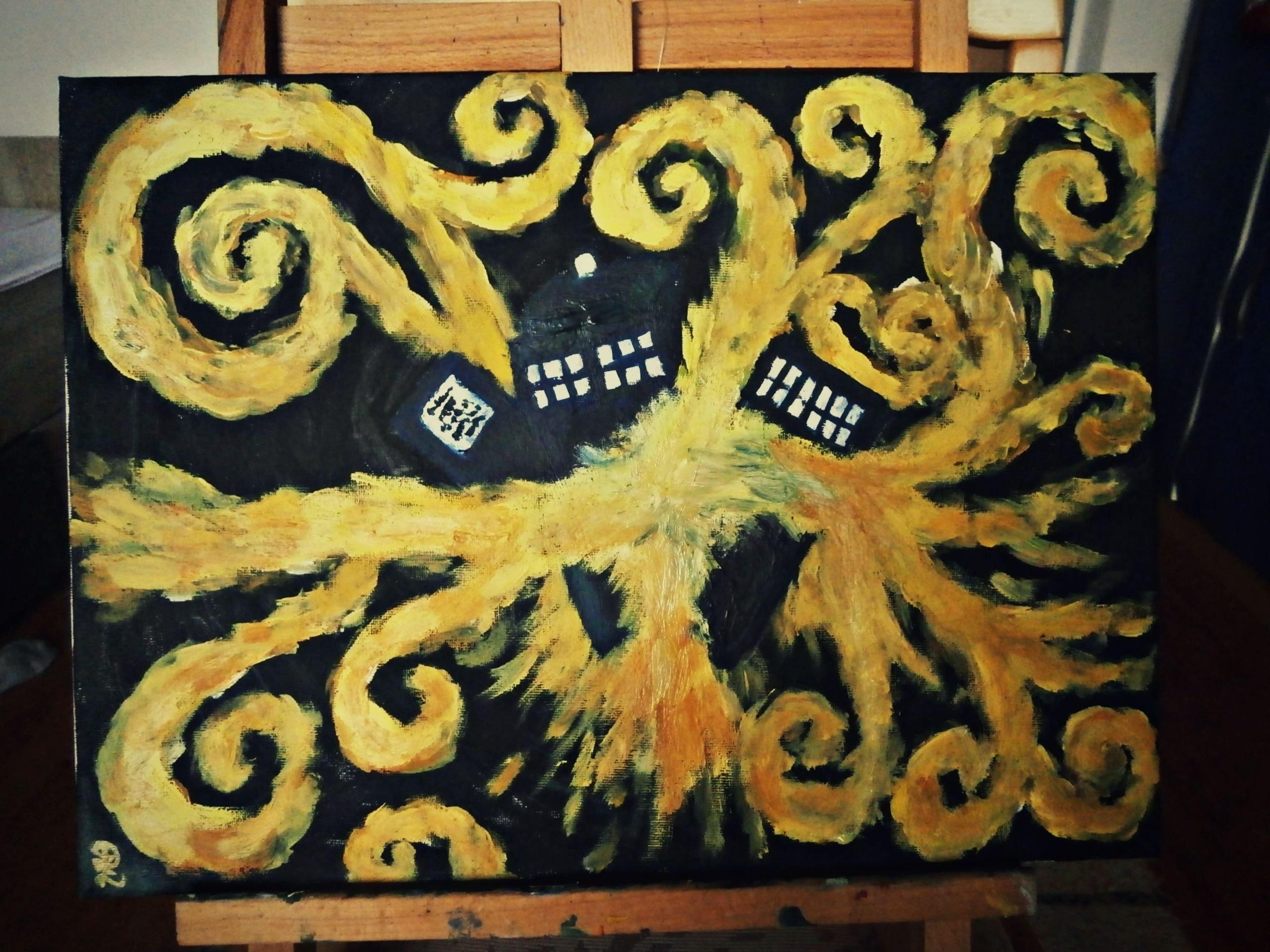 Similiar Van Gogh Starry Night TARDIS Desktop Wallpaper Keywords