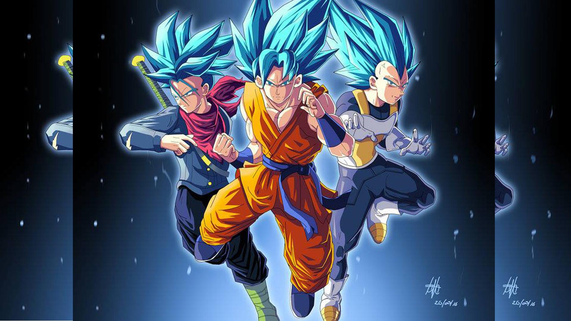 Dragon Ball Z Wallpaper 23 of 49 – Son Goku Childhood · Trunks, Goku and  Vegeta for Super Saiyan Wallpaper