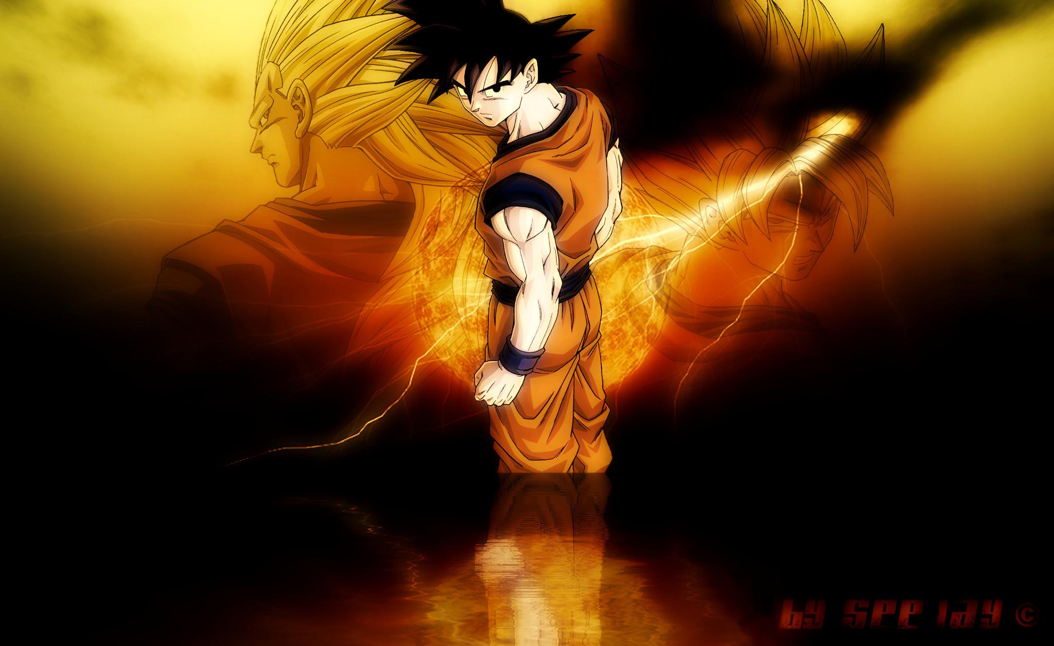 Goku, Trunks, Goku