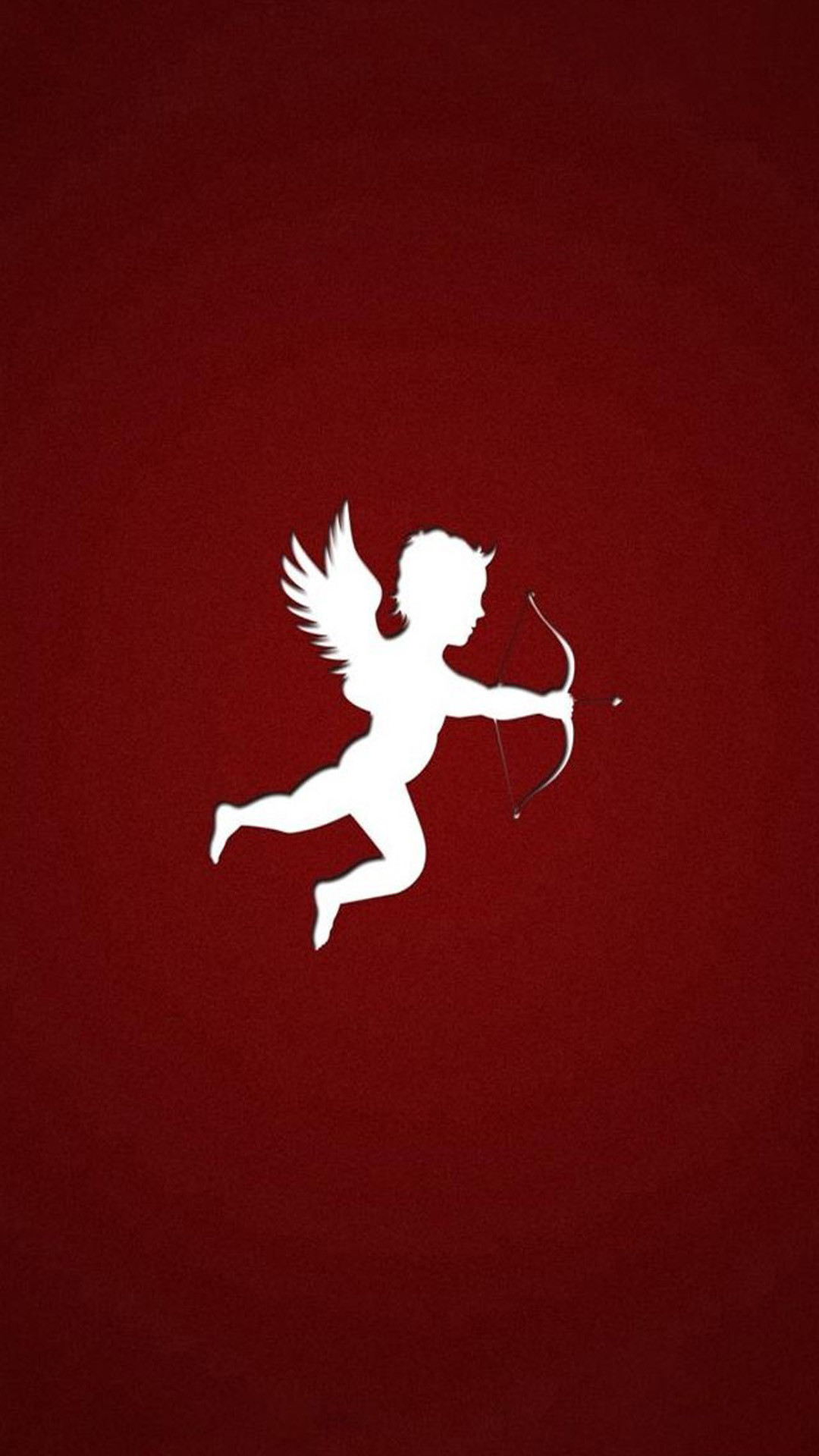 Simple The Arrow Of Cupid Outline Art iPhone 8 wallpaper