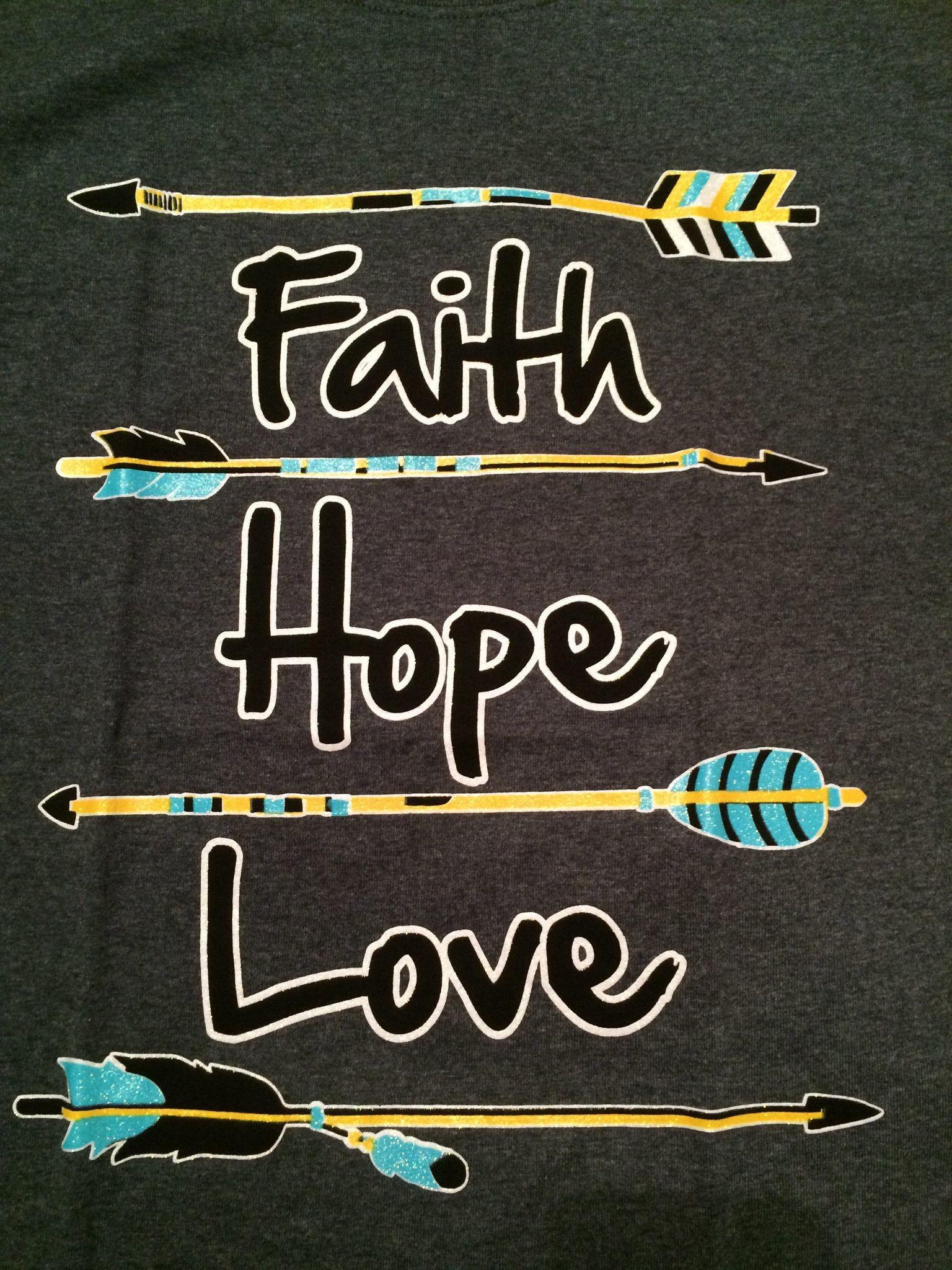 Faith Hope Love – Arrow T-Shirt GRAY