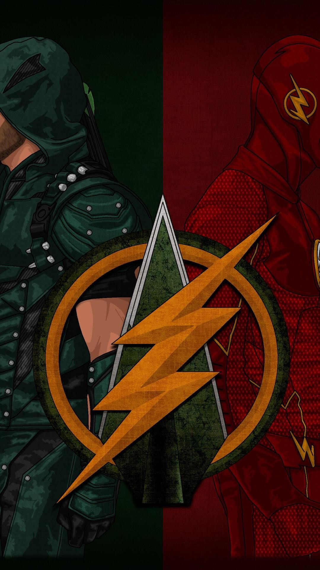 Off Topic[No Spoilers] A cool Flash/Arrow phone wallpaper I found …