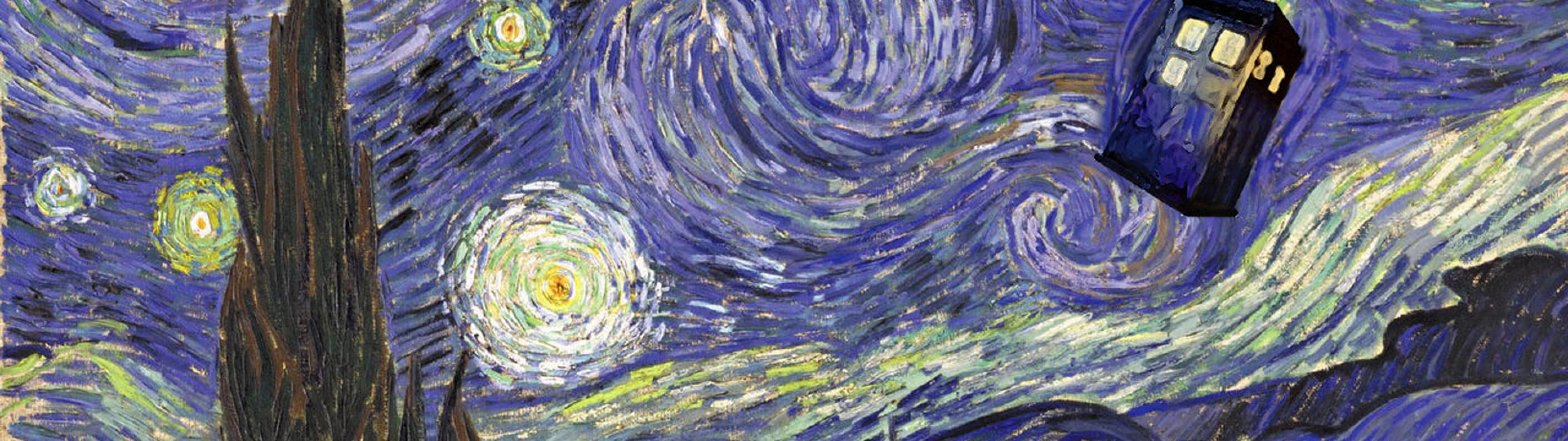 doctor who starry night tardis vincent van gogh Ultra or Dual High .