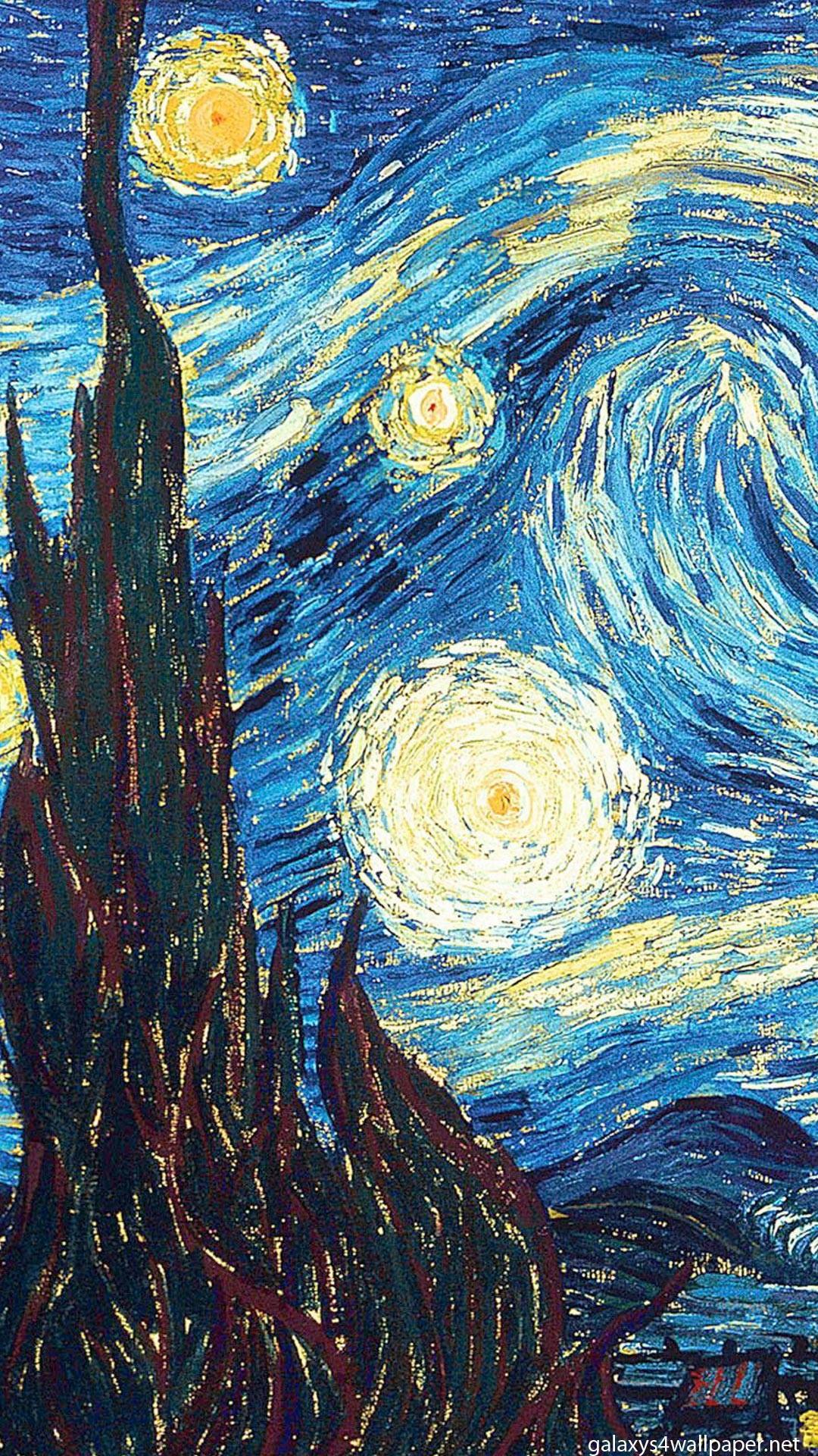 Art The Starry Night Vincent Van Gogh