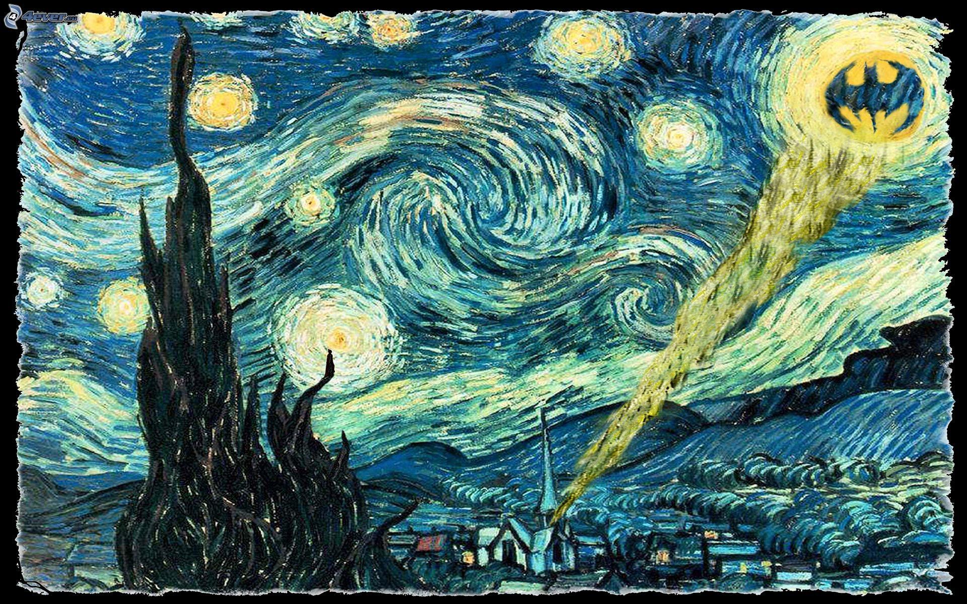 Batman Van Gogh Wallpaper