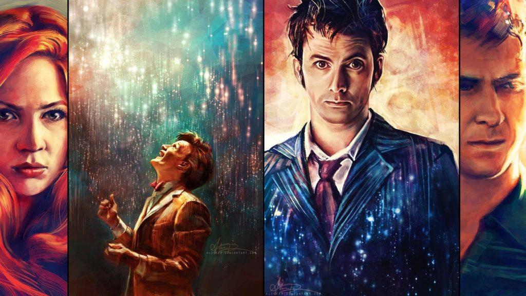 van gogh doctor who paintings janefargo · doctor who the doctor artwork  paintings david tennant matt smith karen gillan amy pond rory williams …