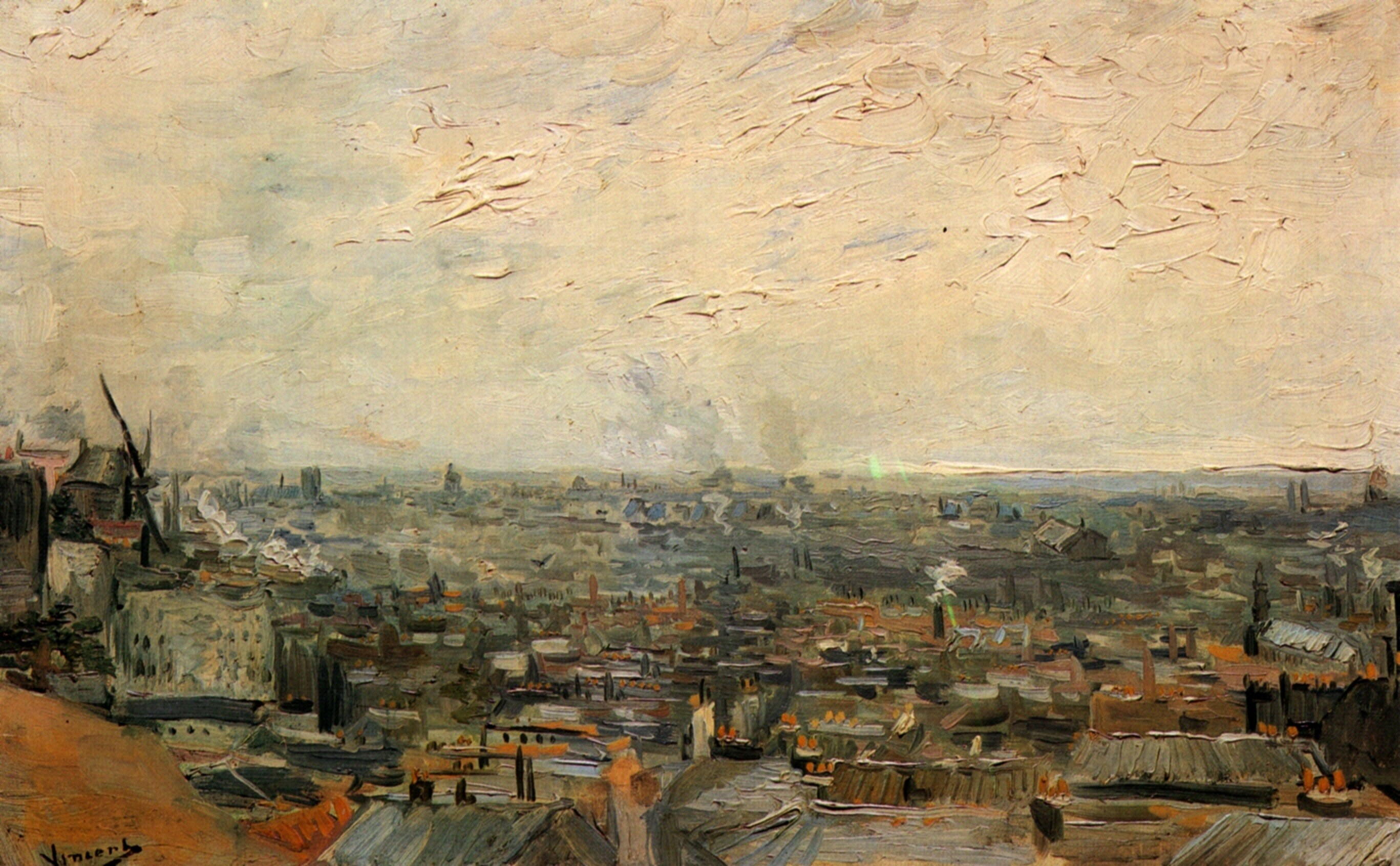 View of Paris from Montmartre, 1886 – Vincent van Gogh
