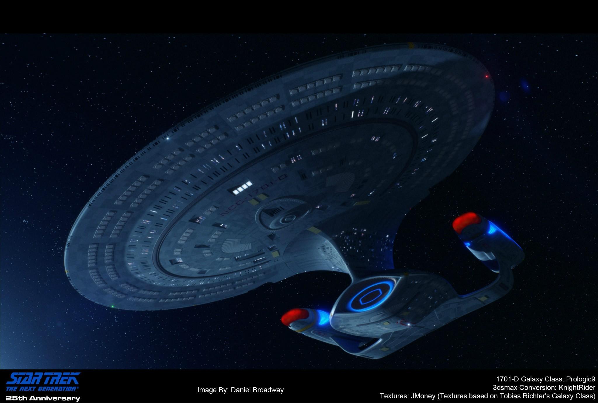 Star trek ships · A 3D render of the Enterprise 1701-D ~ by PixelMagic on  Reddit