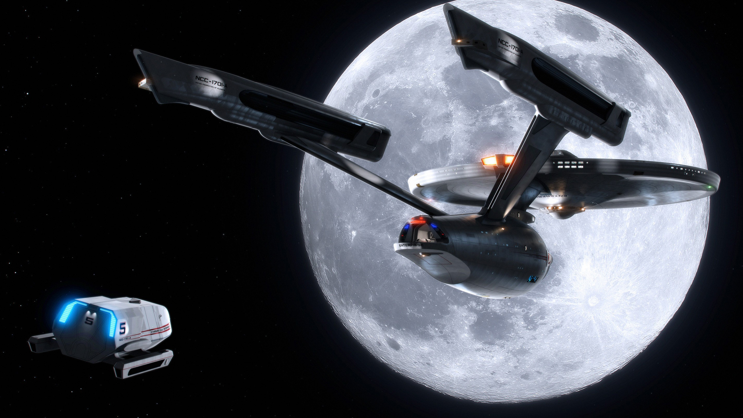 USS Enterprise [2560×1440] (xpost from /r/OtakuVisualArts) …