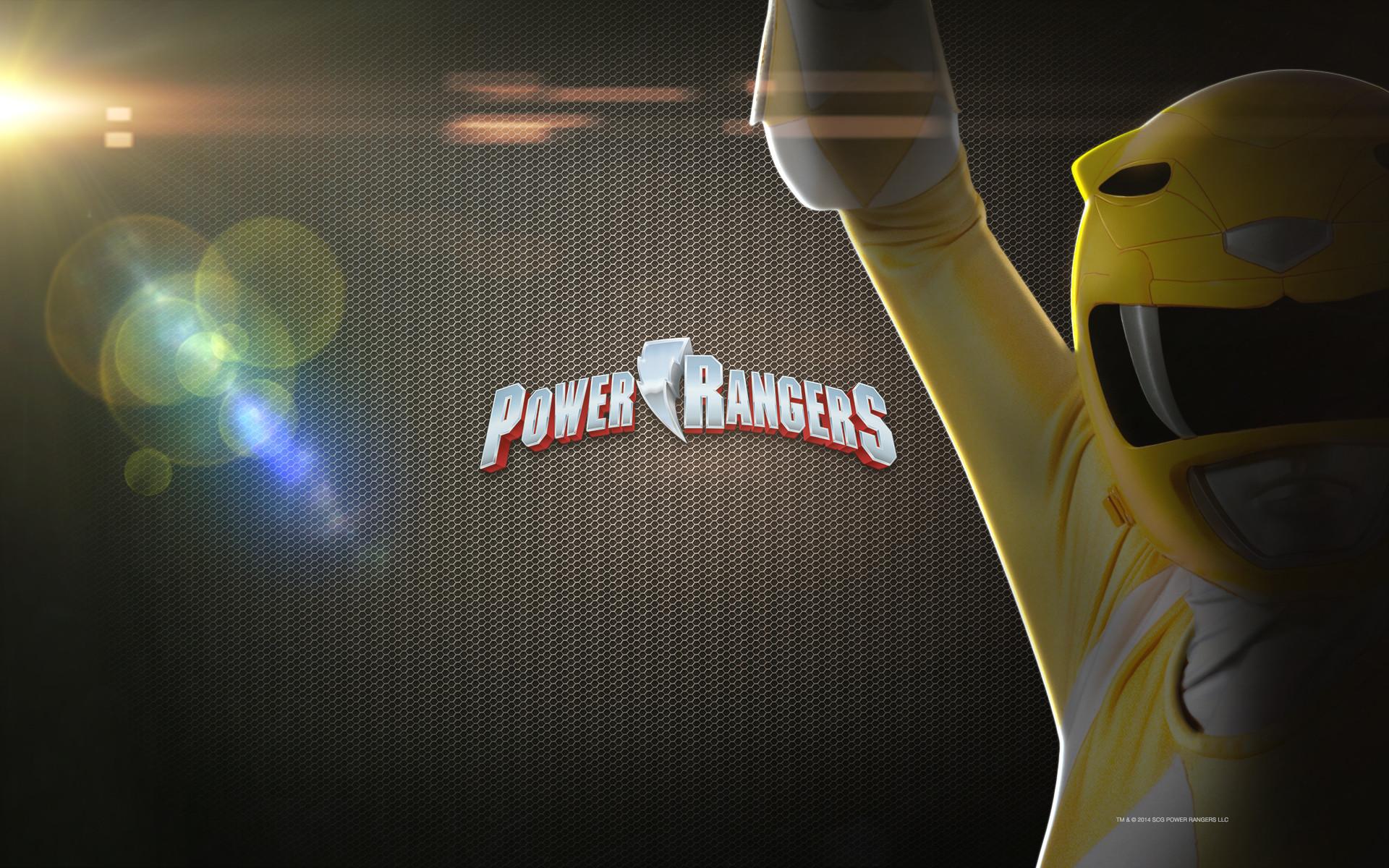 Mighty Morphin Power Rangers Yellow Desktop Wallpaper