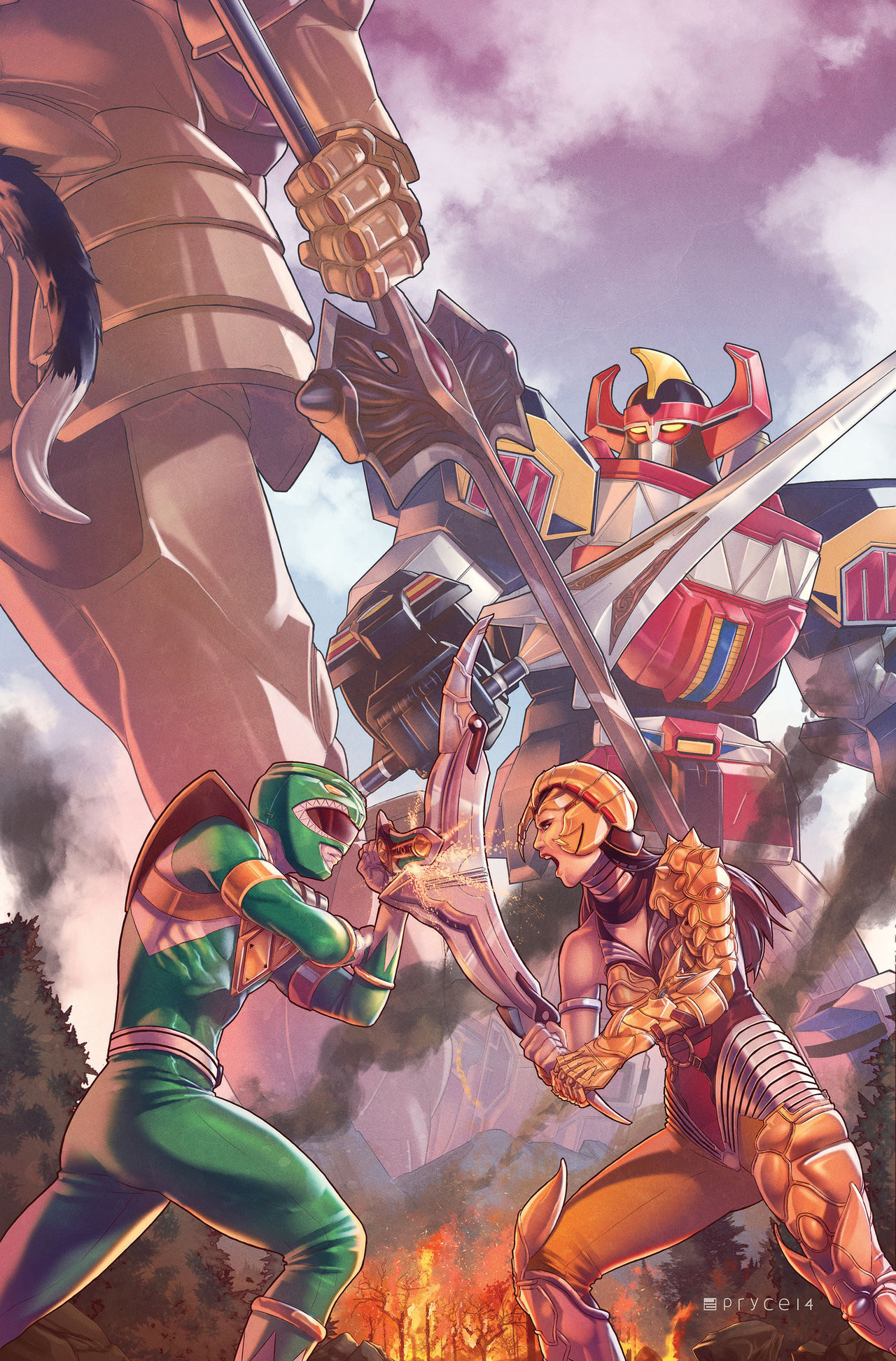 … Mighty Morphin Power Rangers #2 by Pryce14