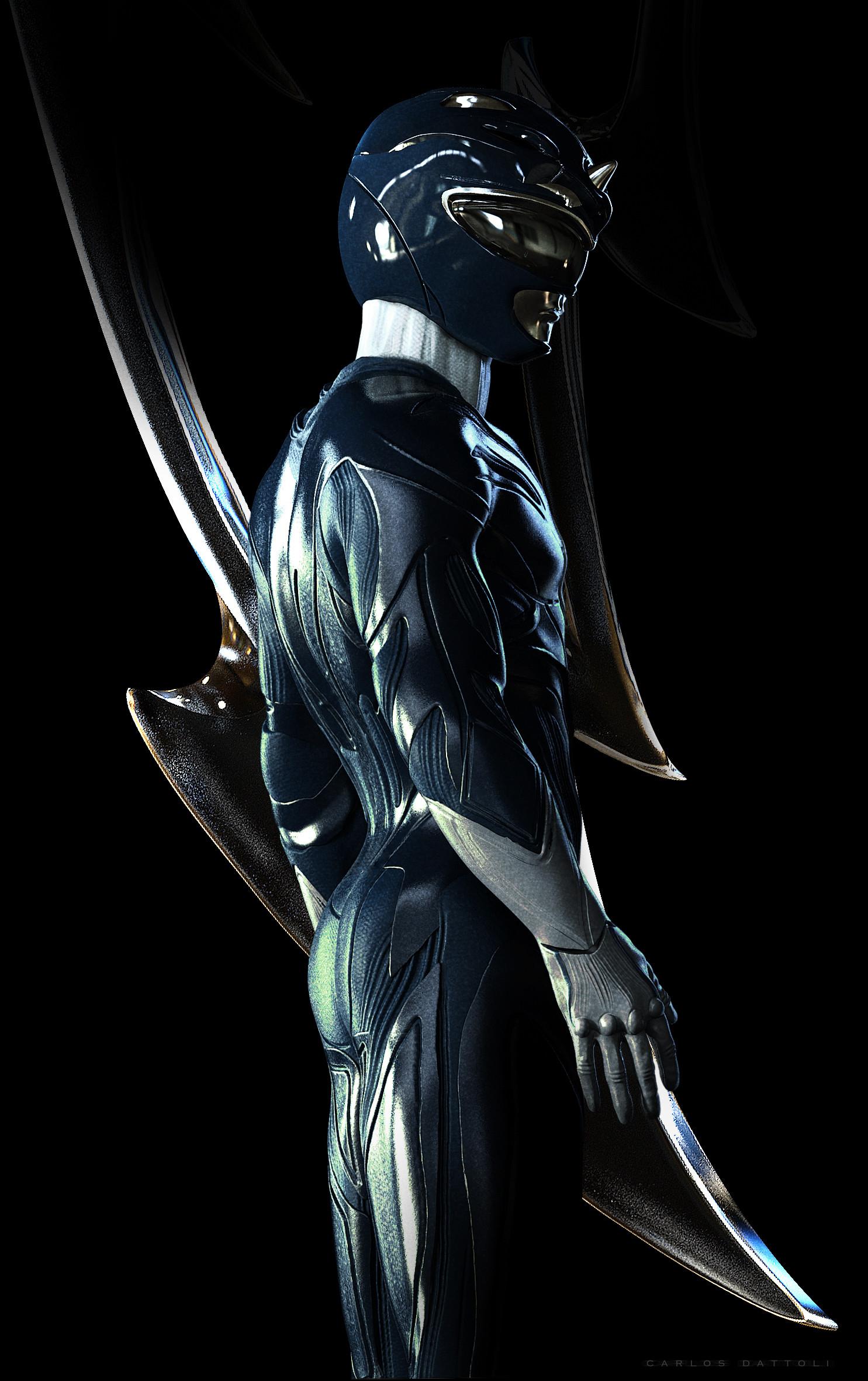 Blue Ranger, Power Rangers Redesign Artwork by Carlos Dattoli