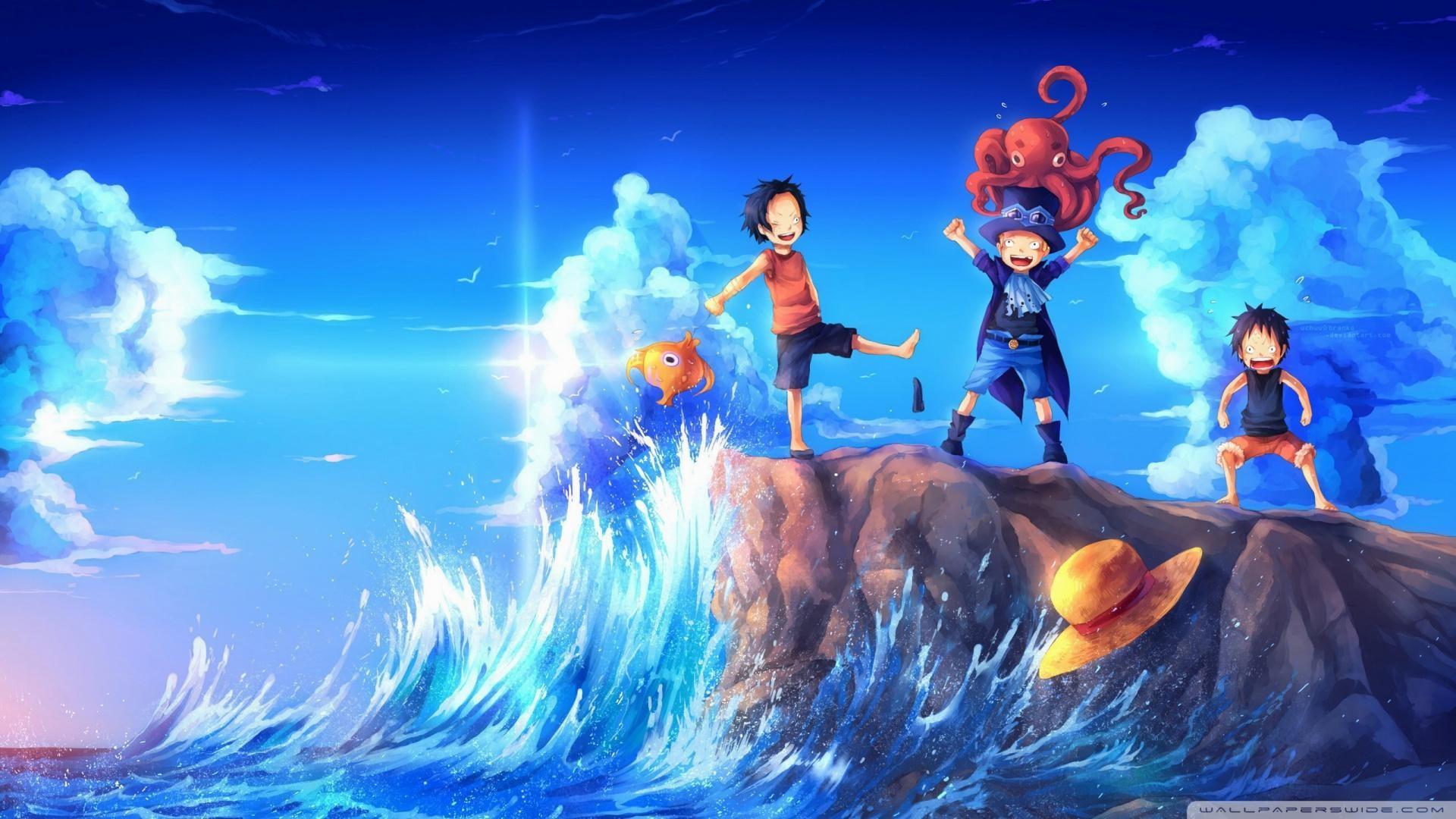 One-Piece-Art-Sabo-Portgas-D.Ace-Luffy-