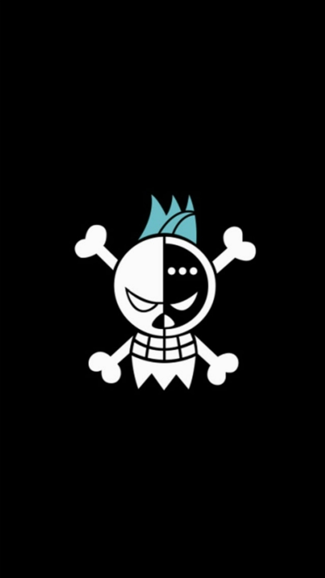 Fun Pirate Skull Logo Pattern iPhone 6 wallpaper