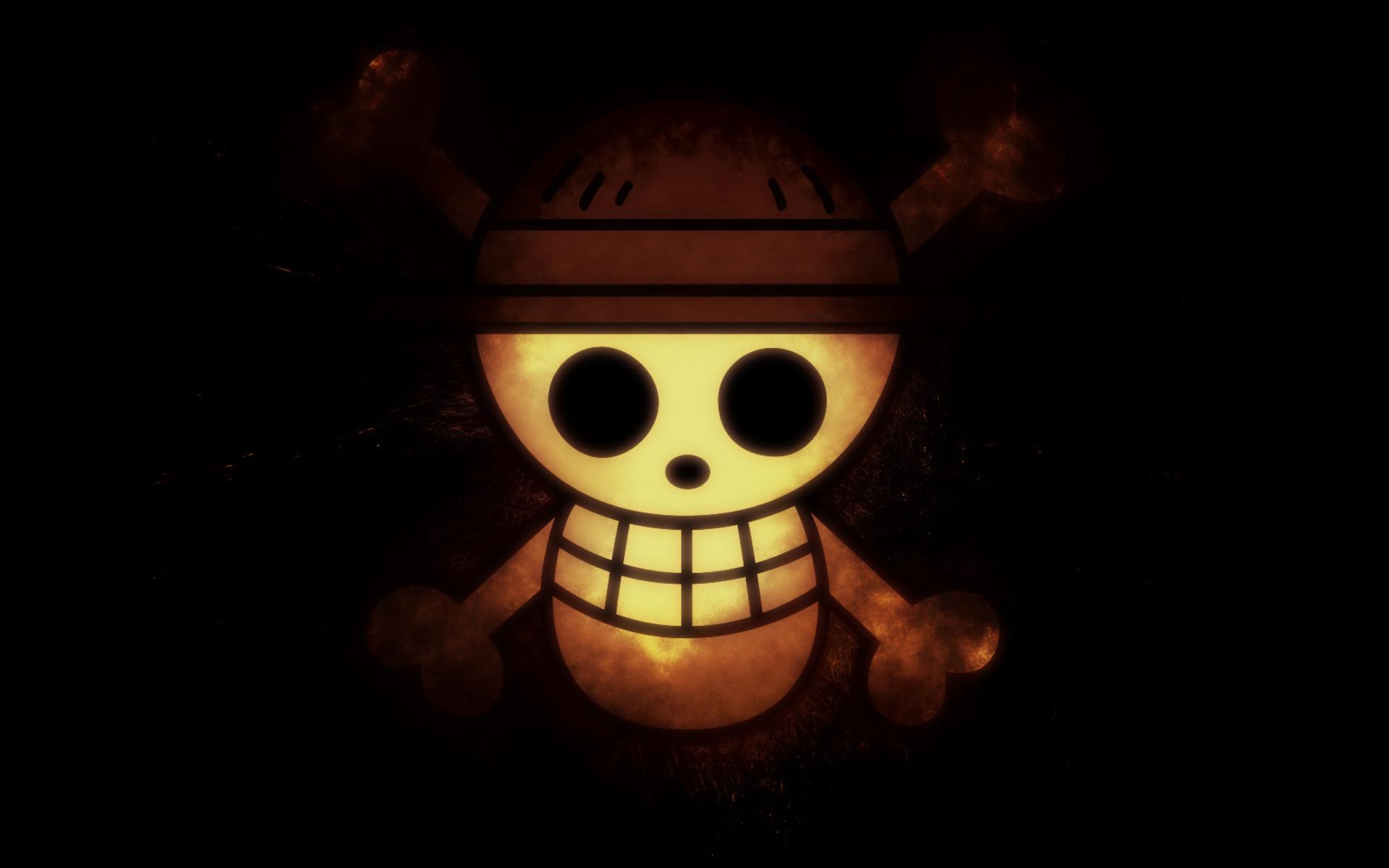 One Piece Logo Pirates Black Wallpaper Anime Images HD Free #3202939449