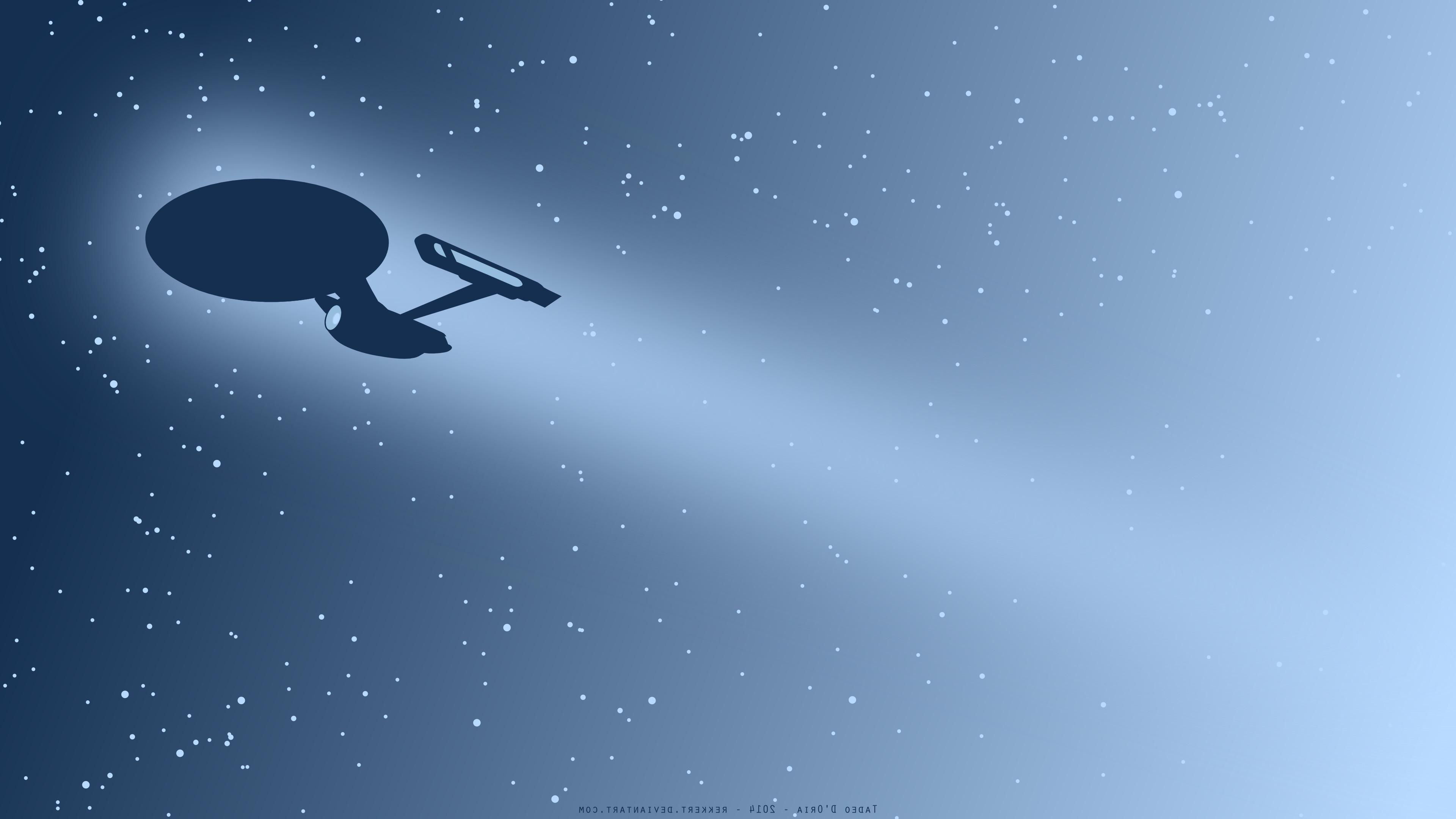 Star Trek, USS Enterprise (spaceship), Minimalism, Space, Artwork
