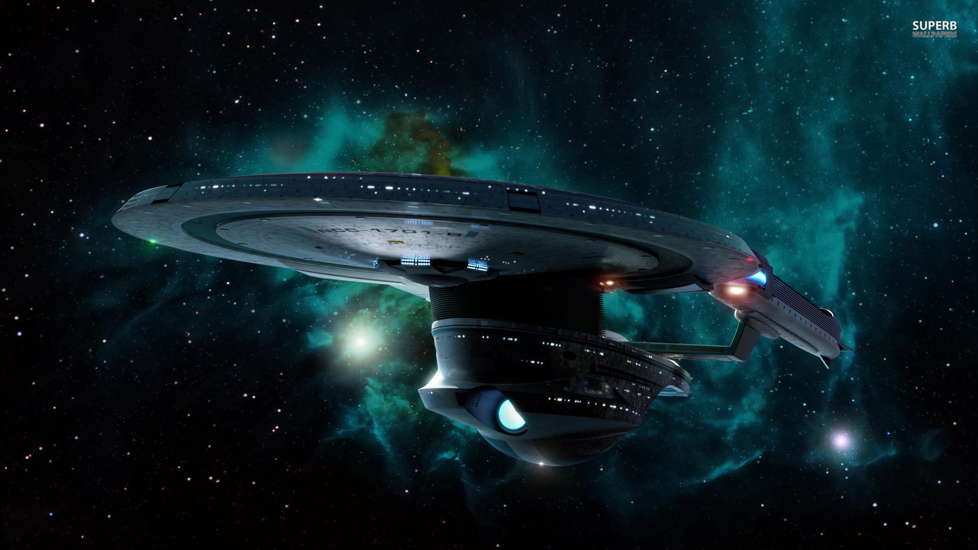 Starship Enterprise at warp wallpaper – Movie wallpapers – #25372