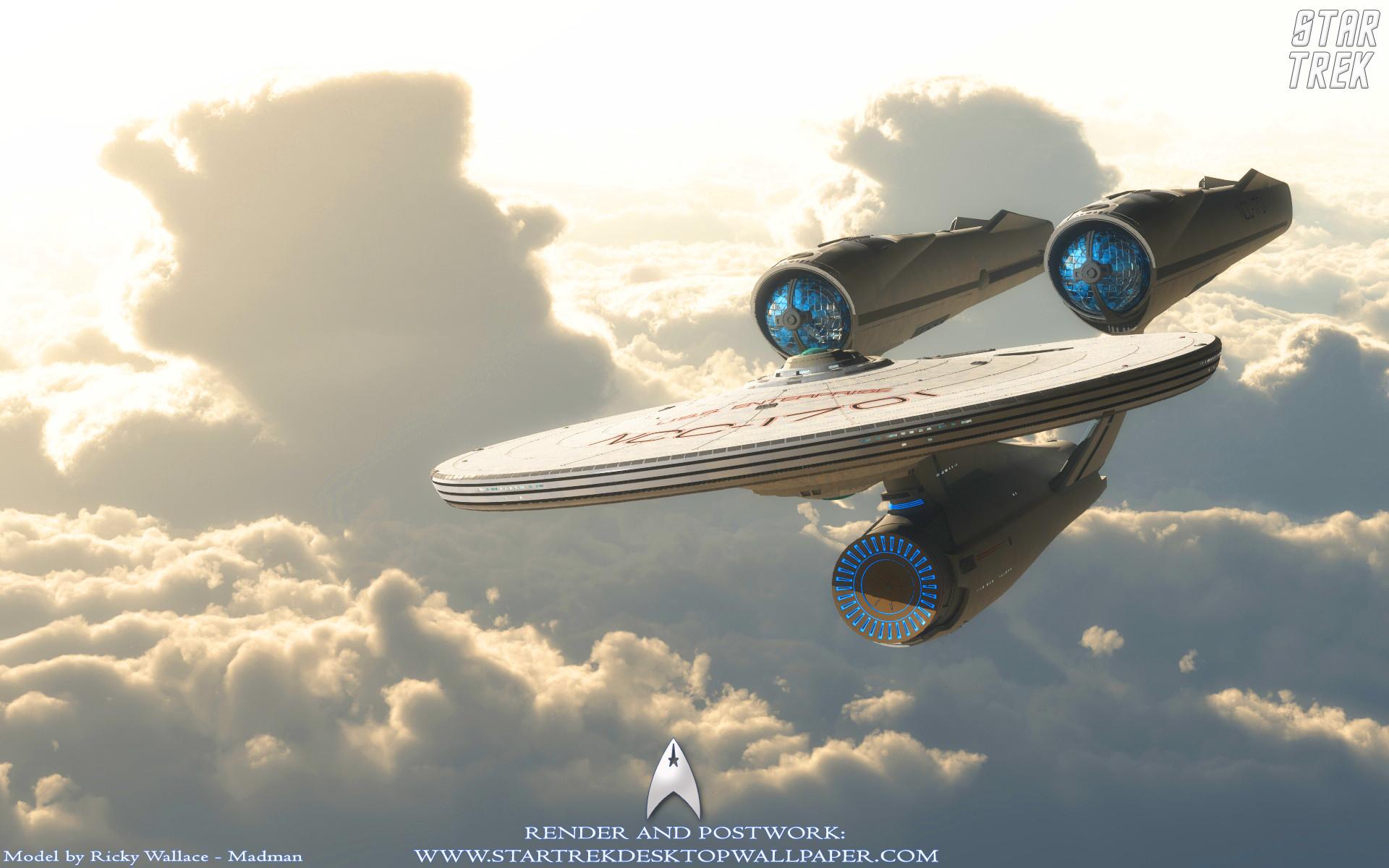 Star Trek USS Enterprise NCC1701 On Clouds. Free Star Trek computer desktop  wallpaper, images
